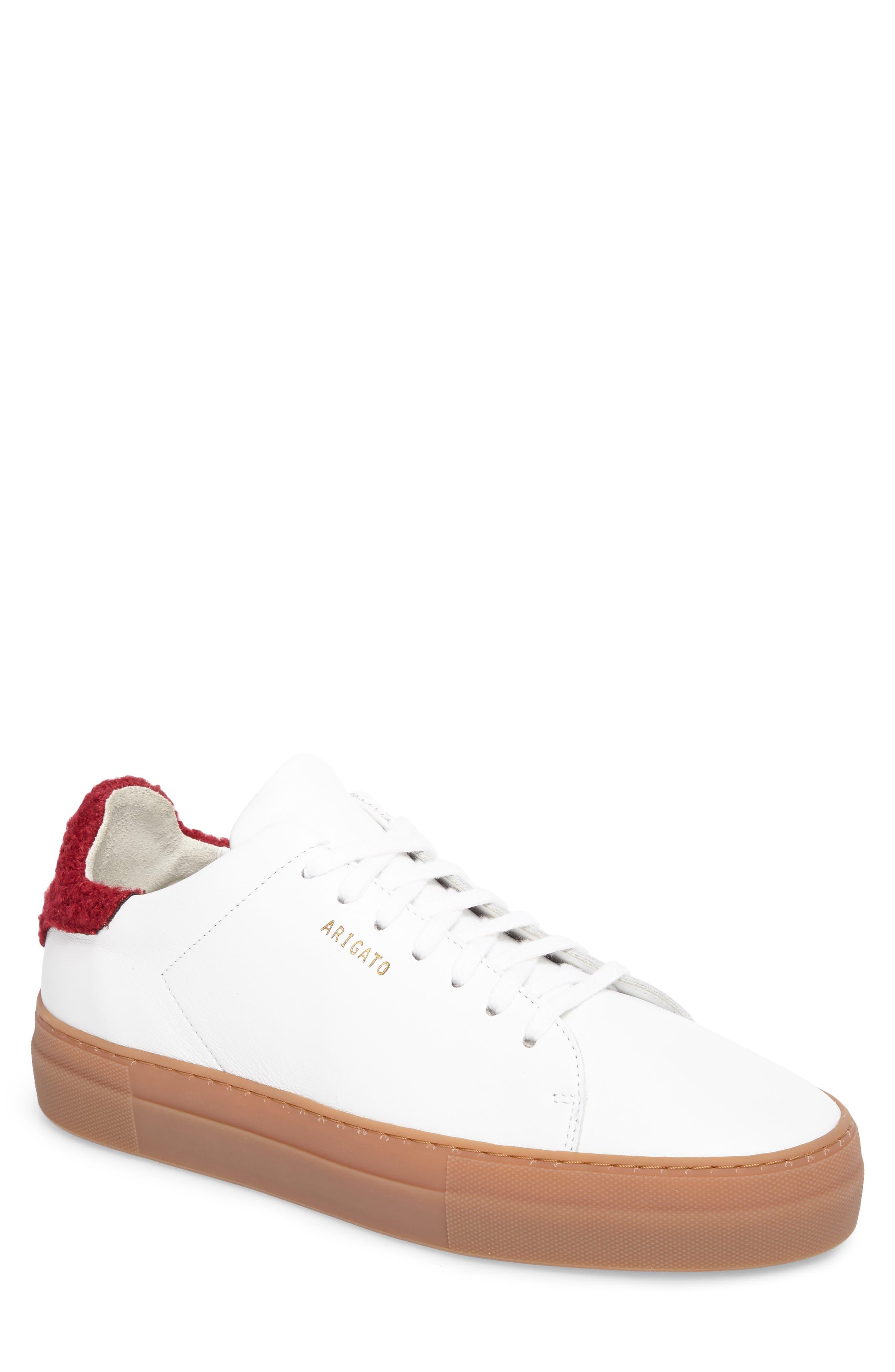Clean 360 Fuzzy Heel Sneaker,                             Main thumbnail 1, color,                             White