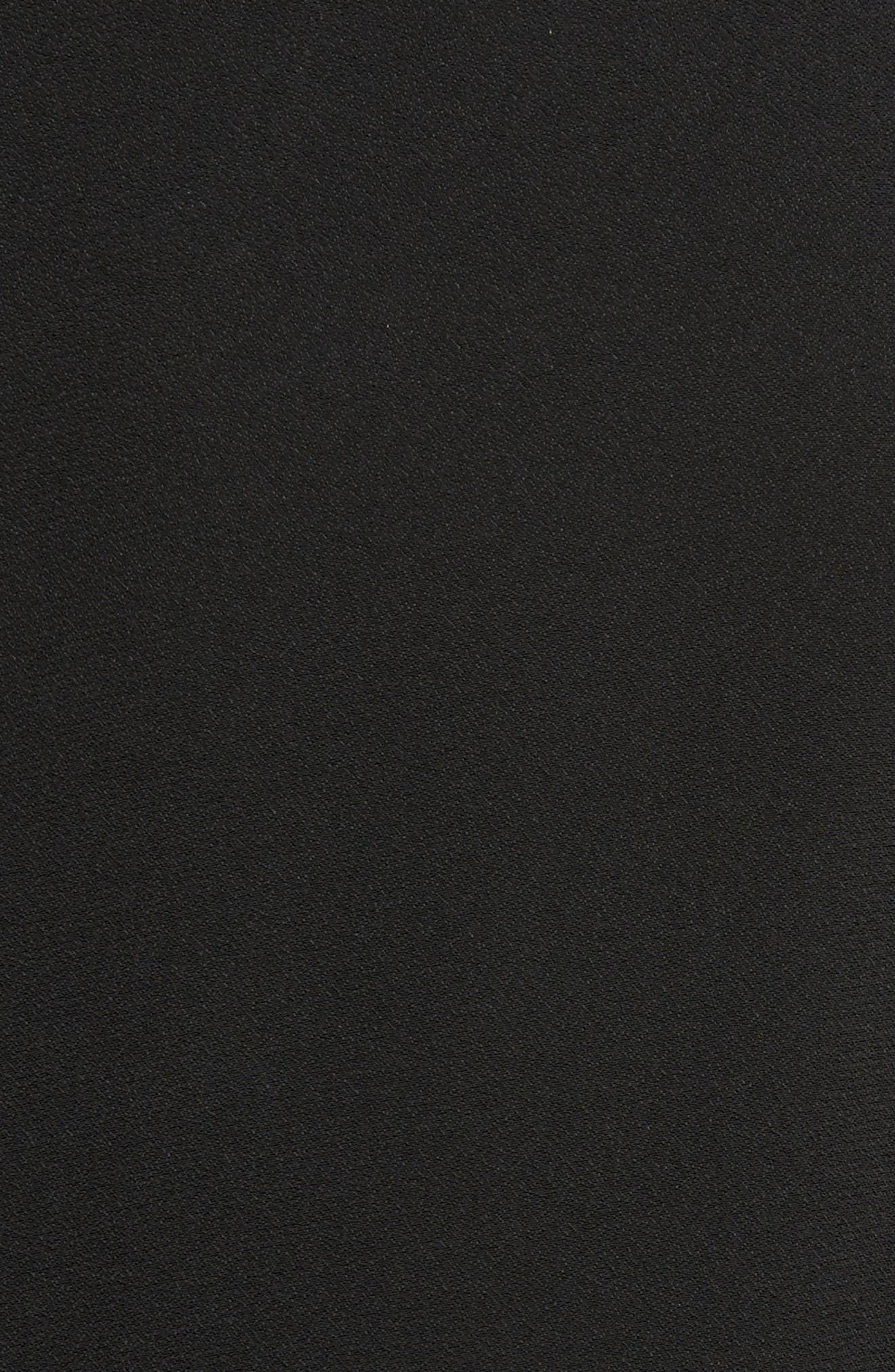 Crystal Embellished Frill Maxi Dress,                             Alternate thumbnail 5, color,                             Black