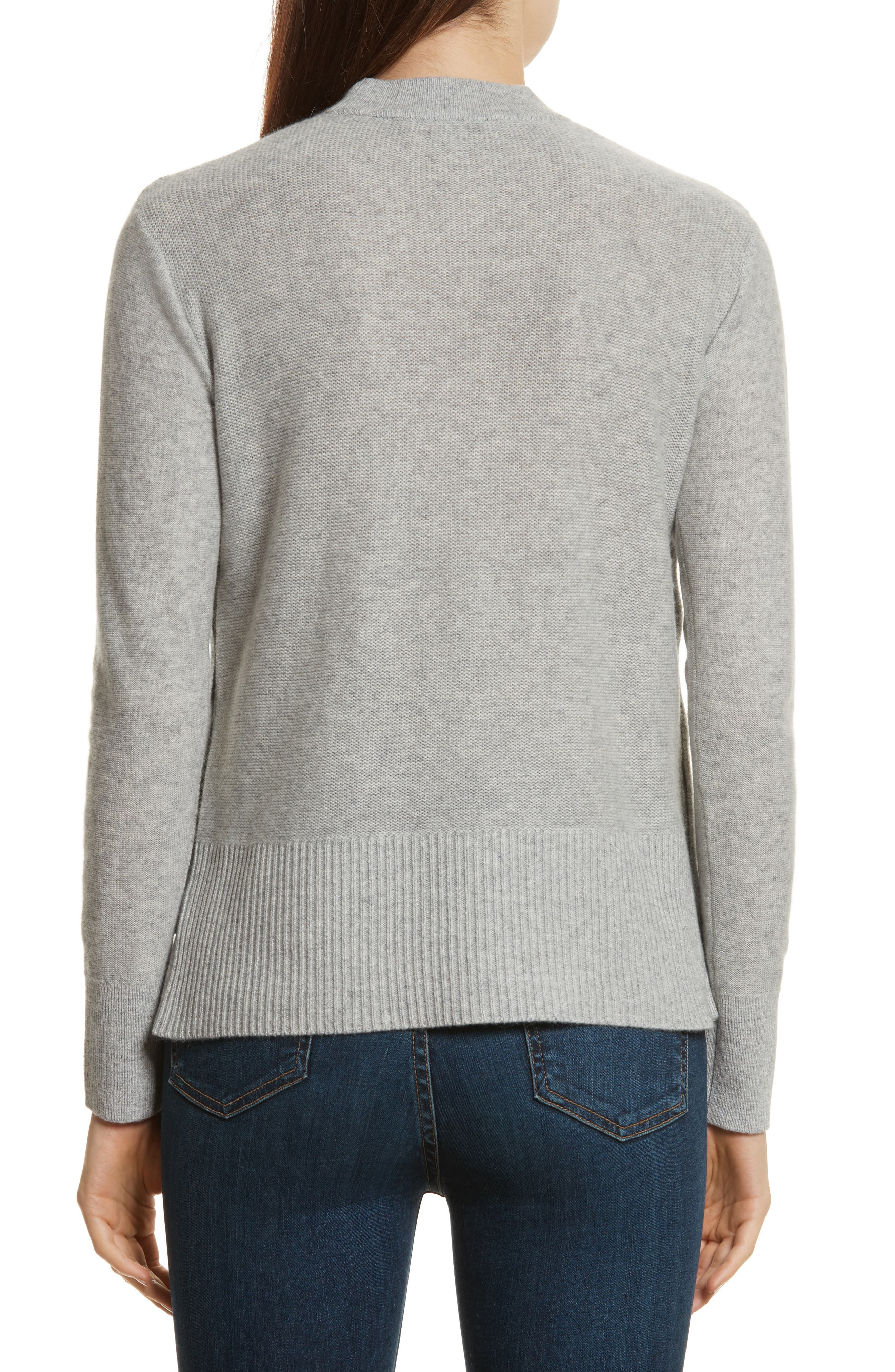 Kenna Cashmere Sweater,                             Alternate thumbnail 2, color,                             Grey