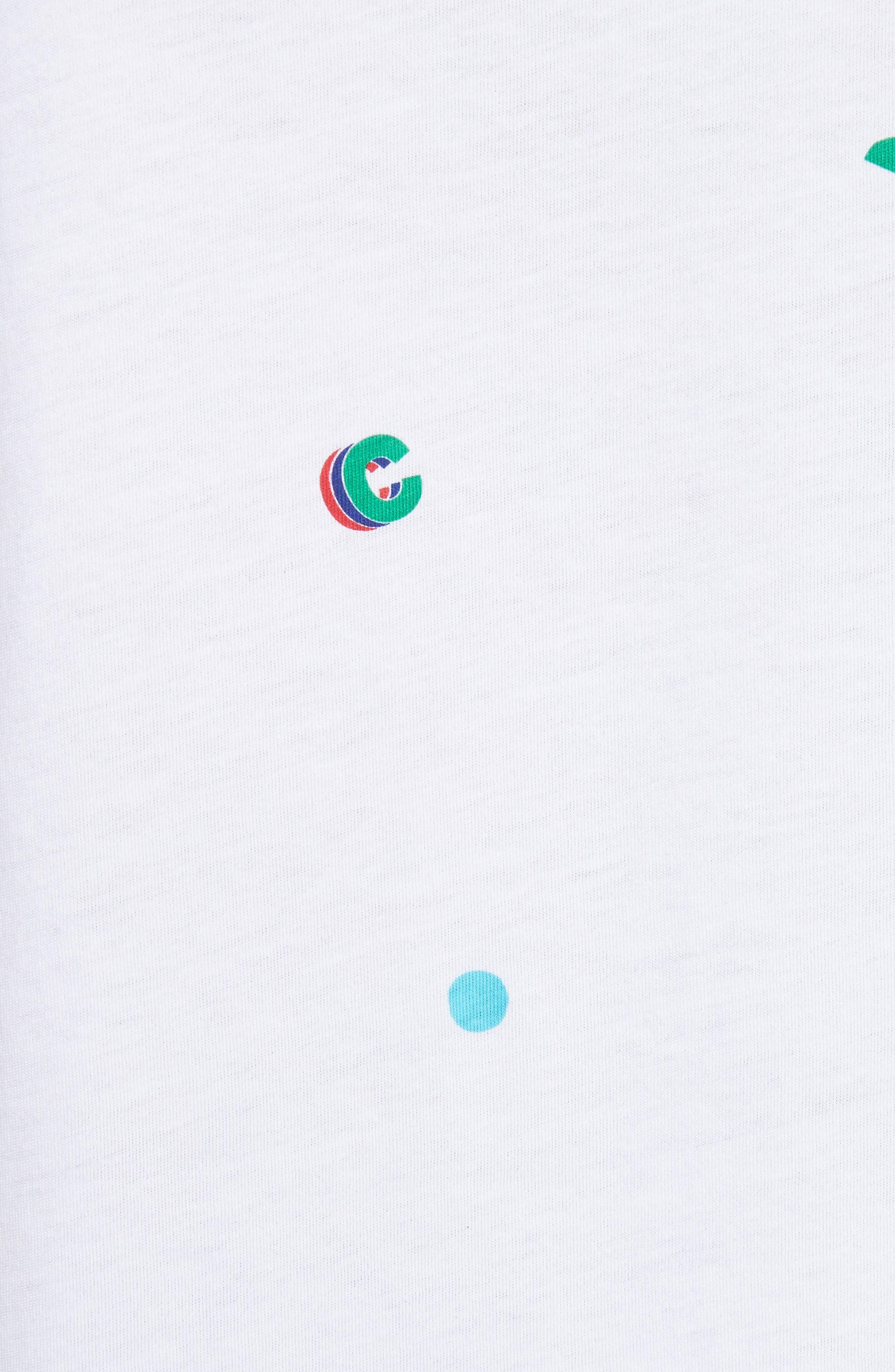 être cécile Tropical Icon Tee,                             Alternate thumbnail 5, color,                             White