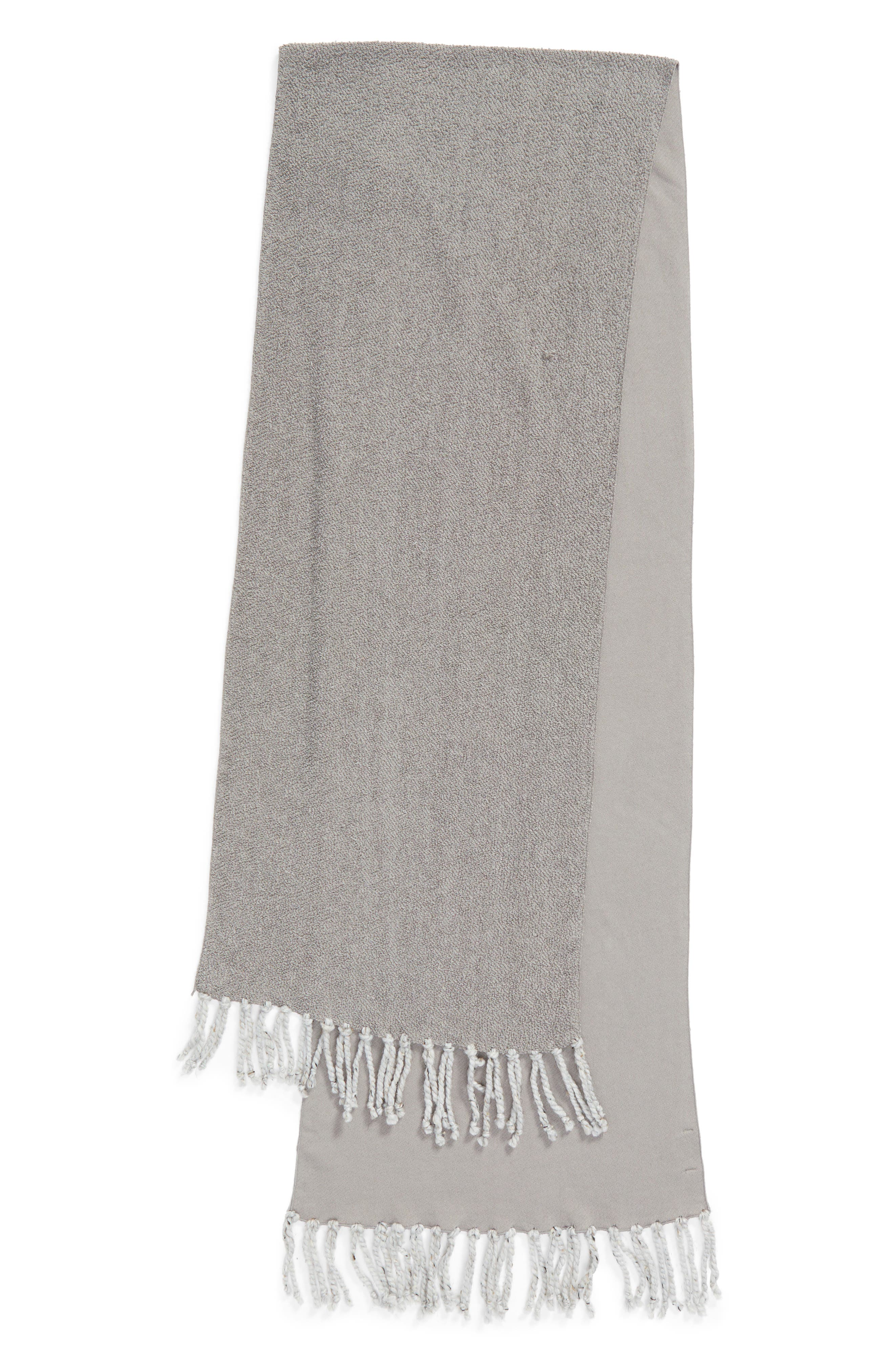 Poodle French Terry Scarf,                             Alternate thumbnail 3, color,                             Heather Grey