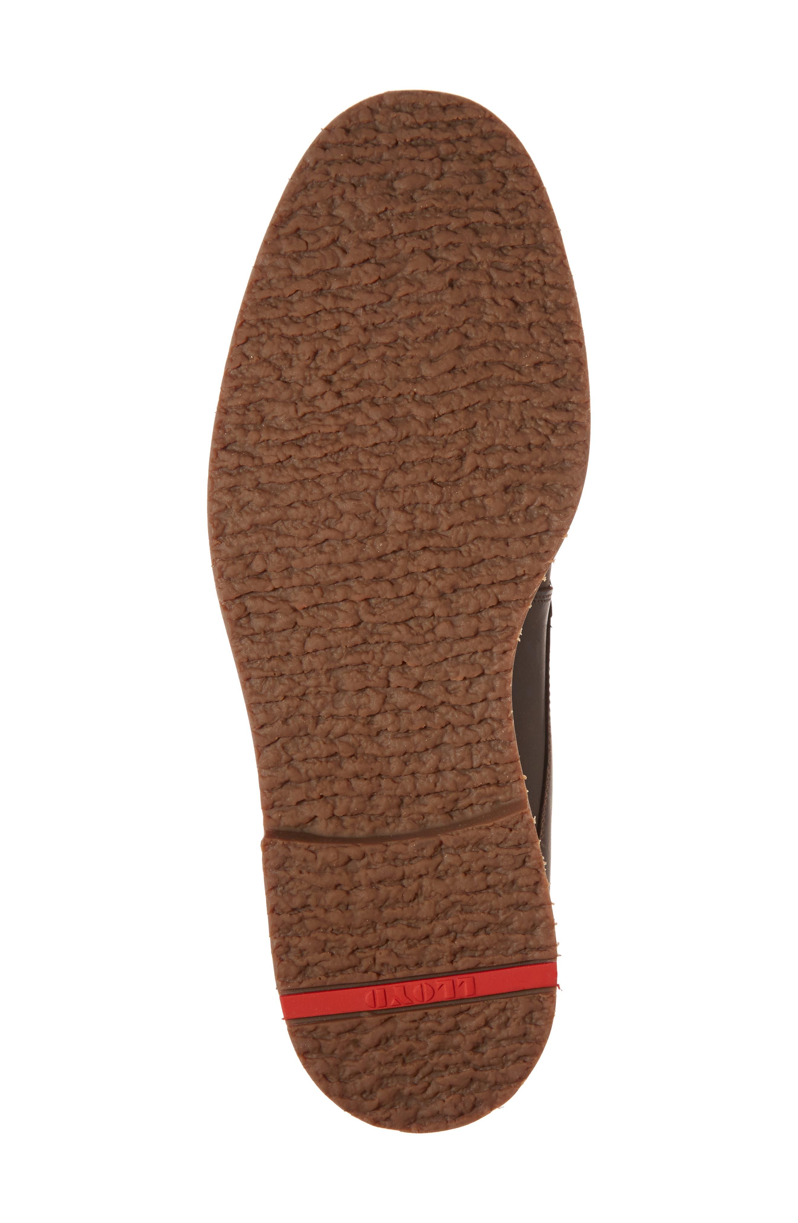 Varus Waterproof Shearlng Lined Chukka Boot,                             Alternate thumbnail 6, color,                             Ebony Leather