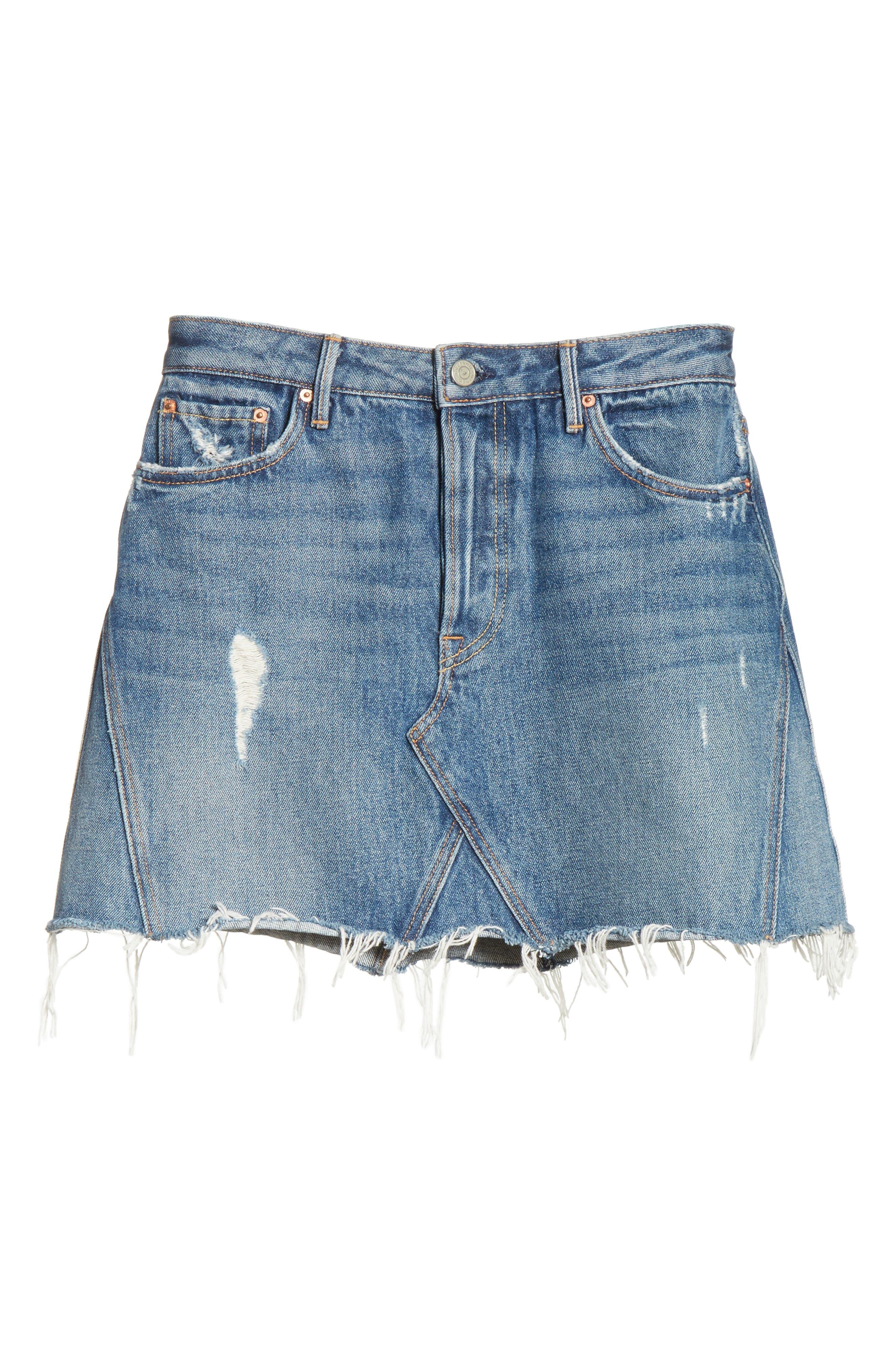 Alternate Image 6  - GRLFRND Eva Denim A-Frame Gusset Skirt