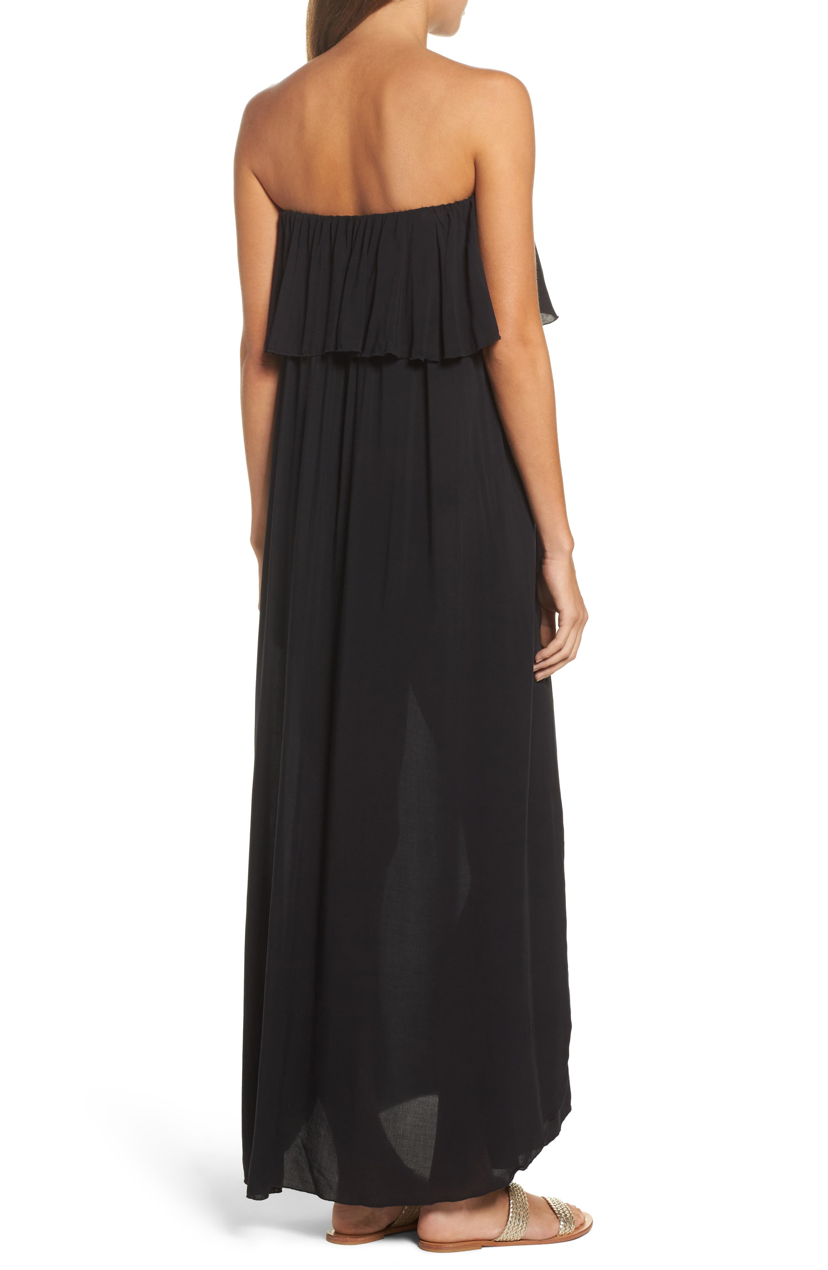 Alternate Image 2  - Elan Strapless Maxi Cover-Up Dress