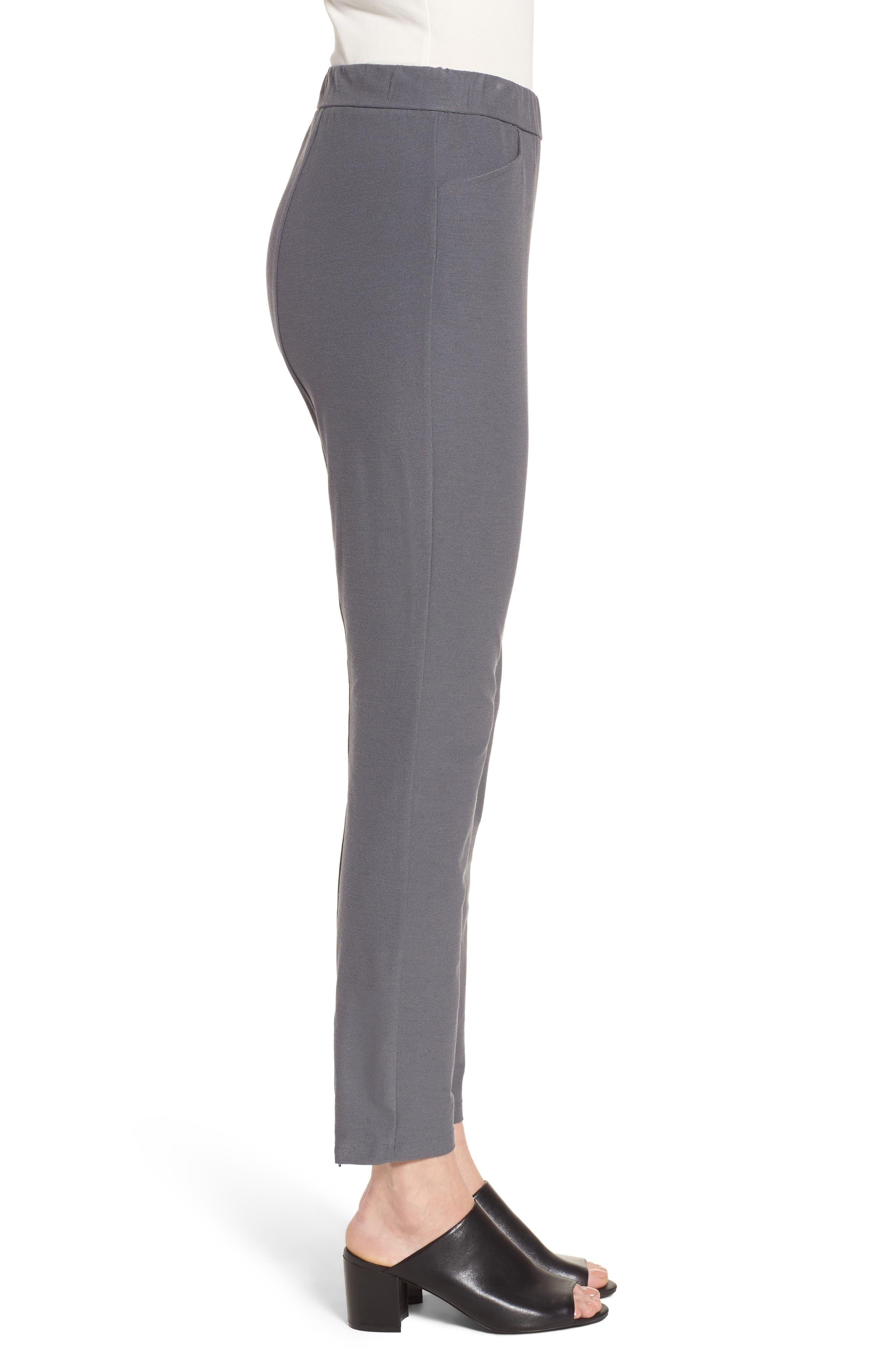 Slim Knit Pants,                             Alternate thumbnail 3, color,                             Ash