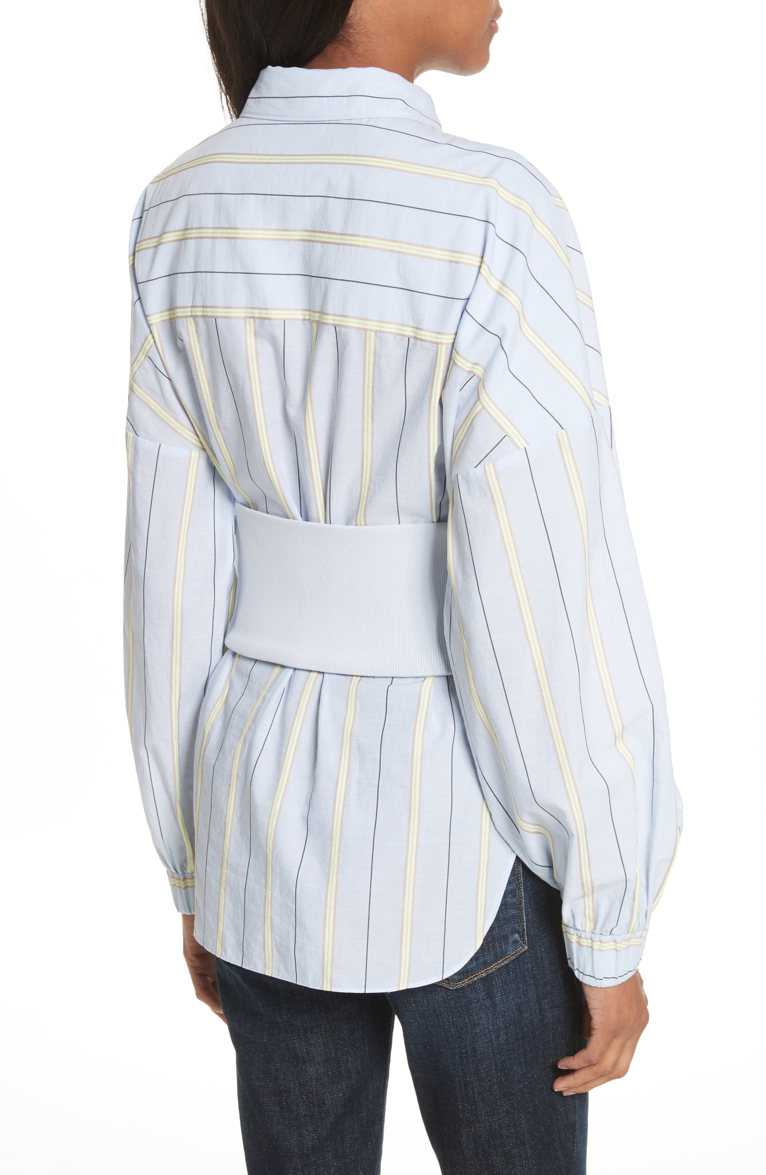 Removable Corset Stripe Shirt,                             Alternate thumbnail 2, color,                             Blue Stripe Multi
