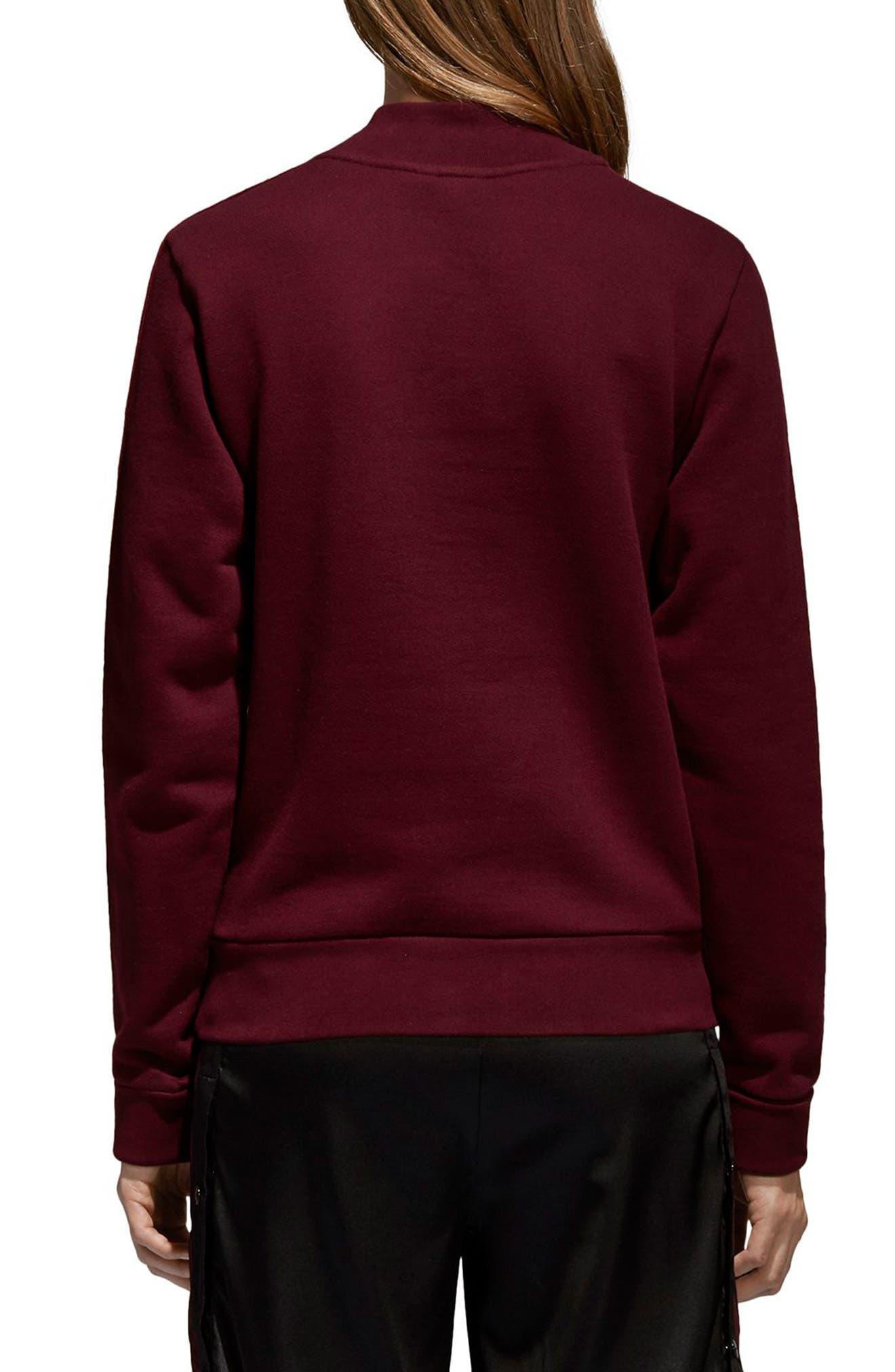 Originals Adibreak Sweatshirt,                             Alternate thumbnail 2, color,                             Maroon