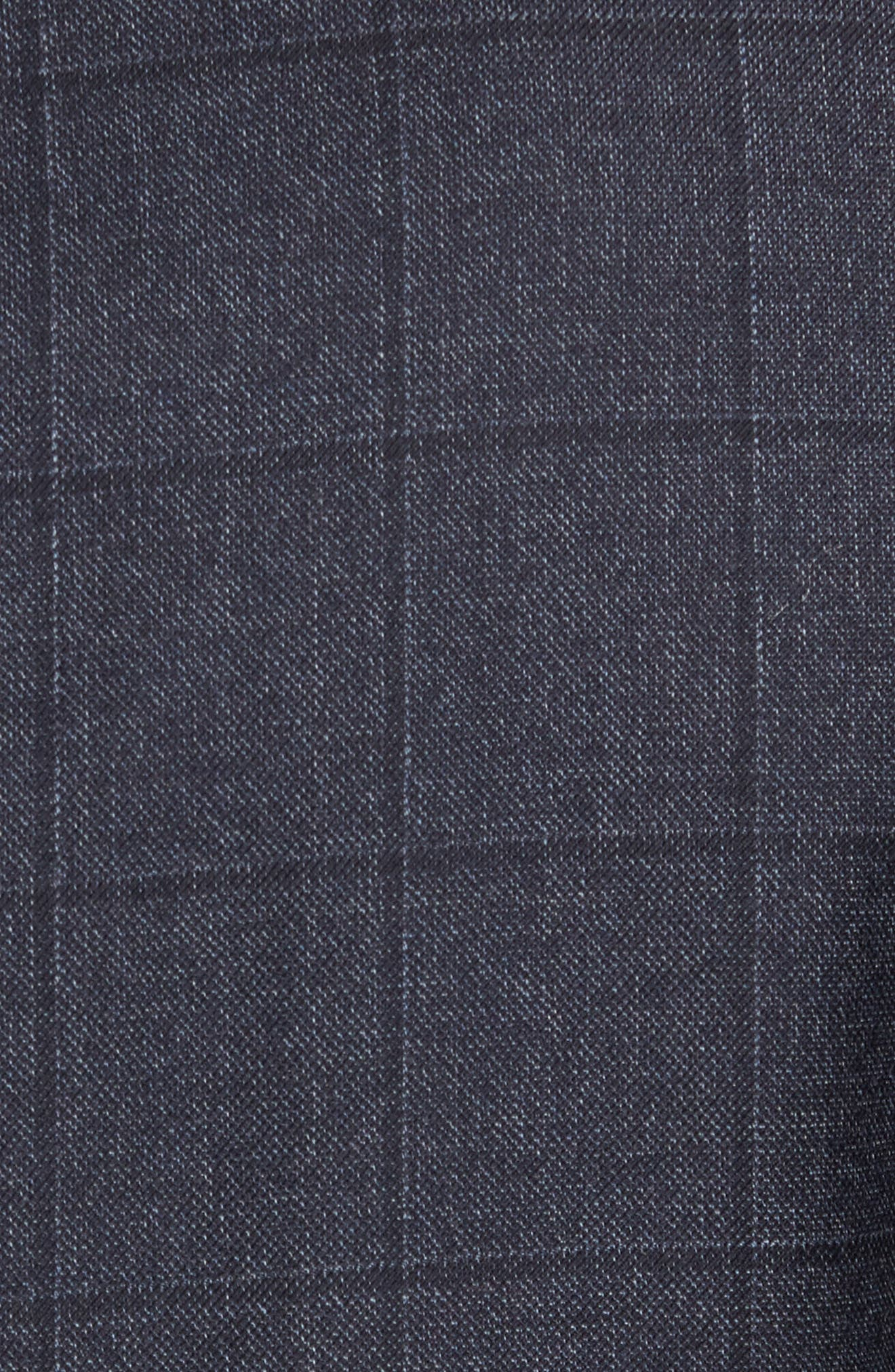 Trim Fit Windowpane Wool Sport Coat,                             Alternate thumbnail 5, color,                             Mid Blue