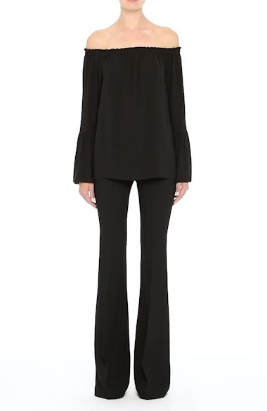 Alternate Image 7  - Michael Kors Silk Georgette Off the Shoulder Top