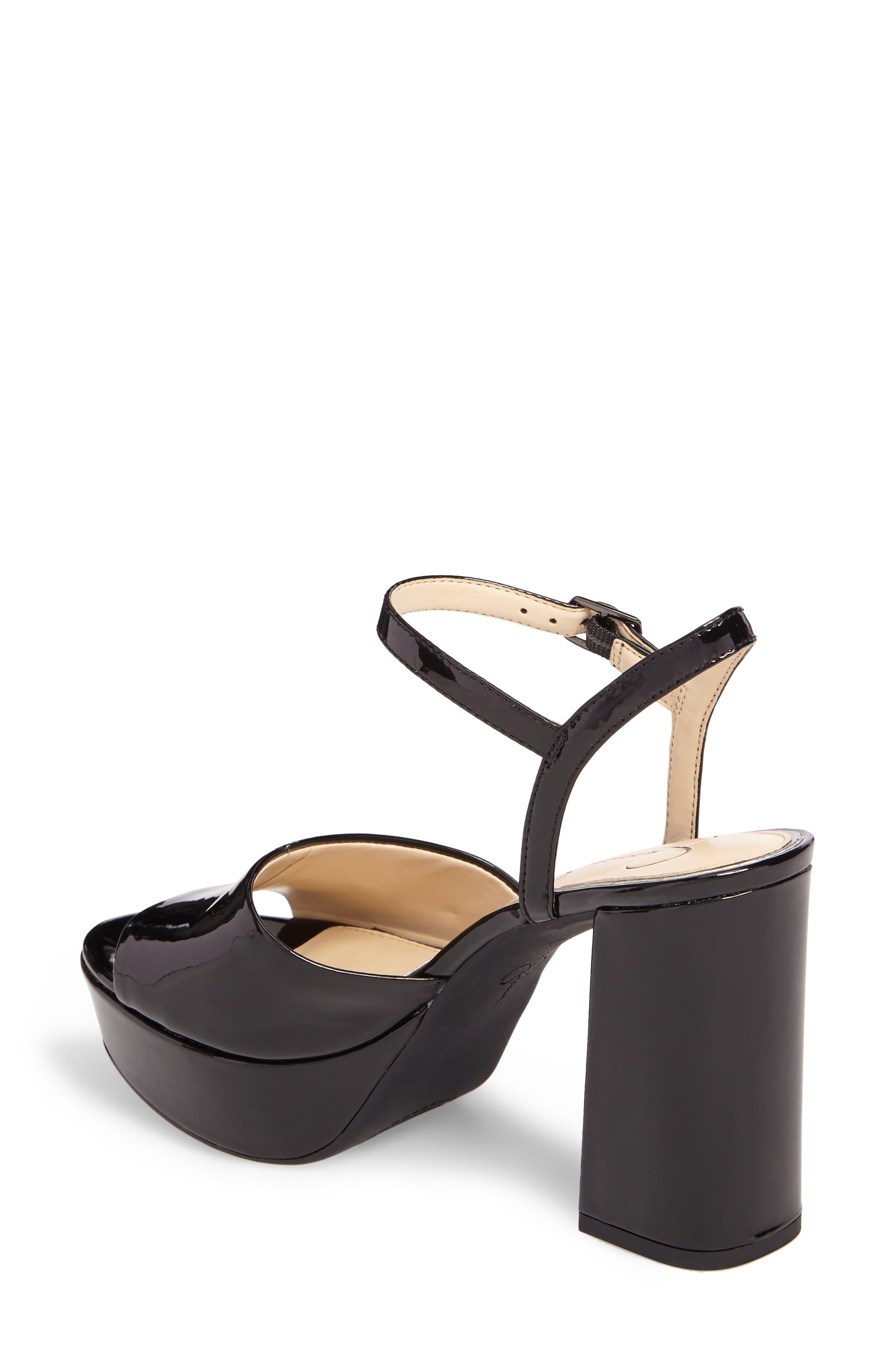 Kerrick Platform Sandal,                             Alternate thumbnail 2, color,                             Black Patent Leather