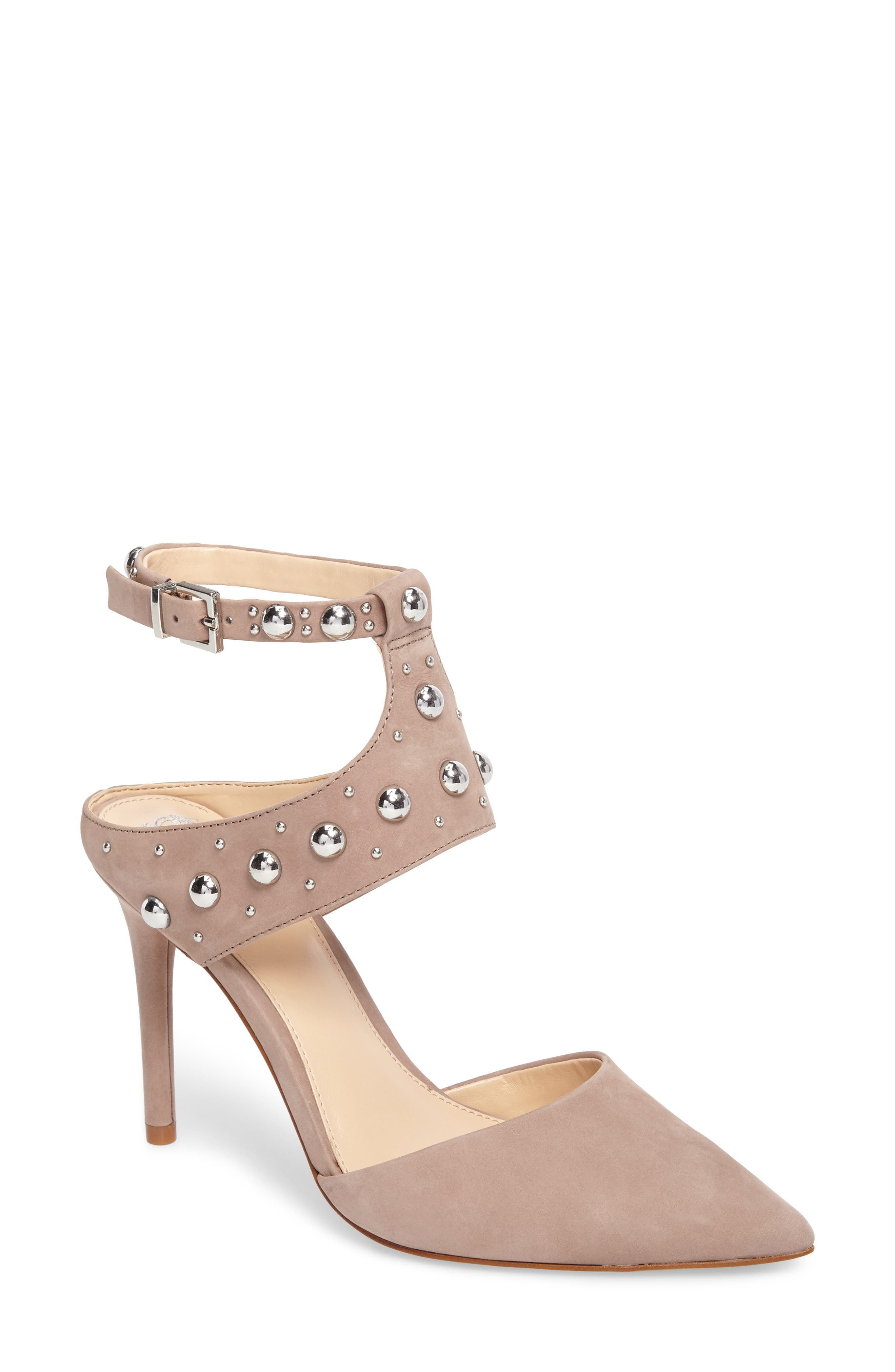 Ledana Studded Pump,                         Main,                         color, Mink Nubuck Leather
