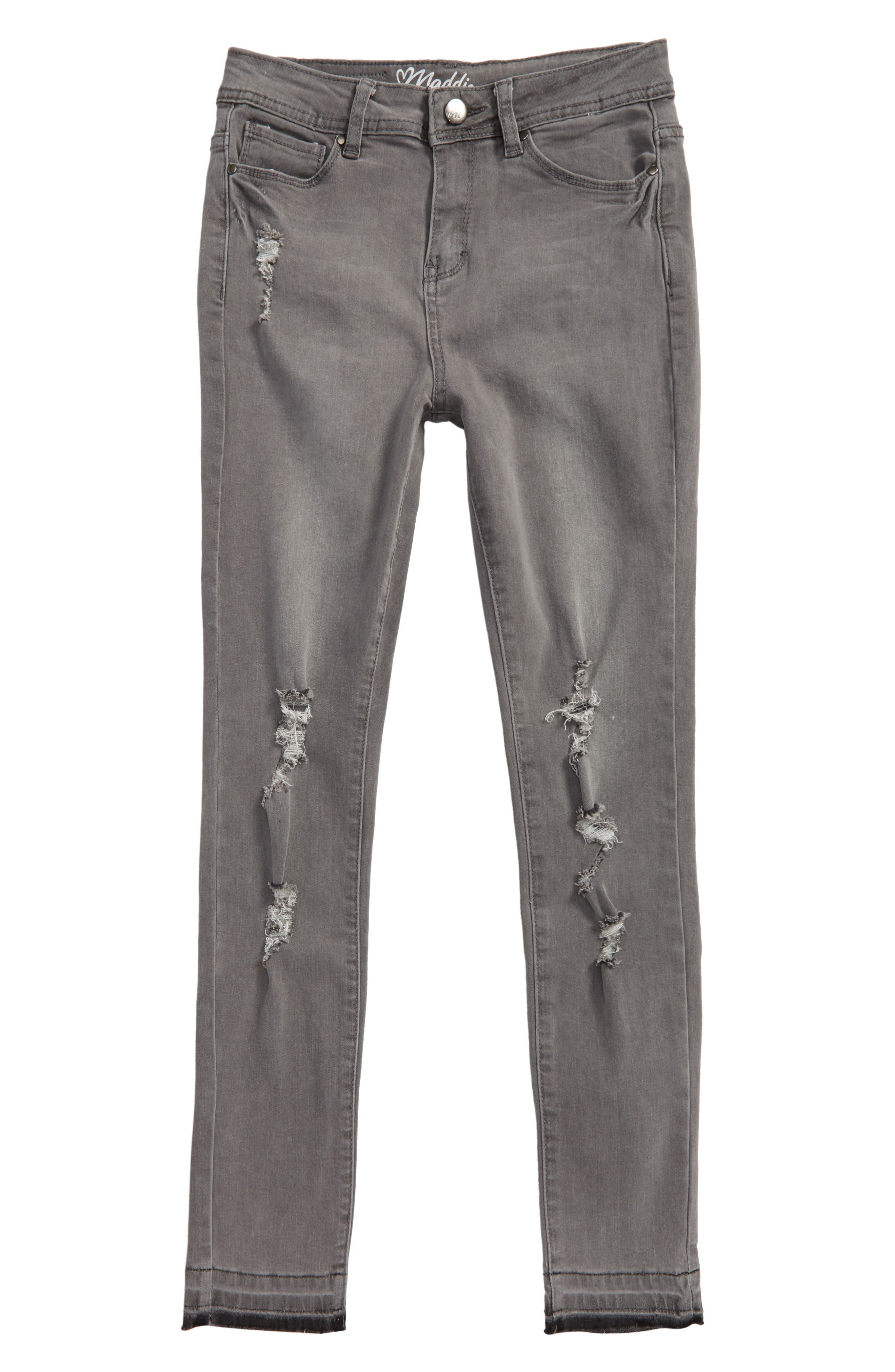 Maddie Distressed Denim Skinny Jeans (Big Girls)