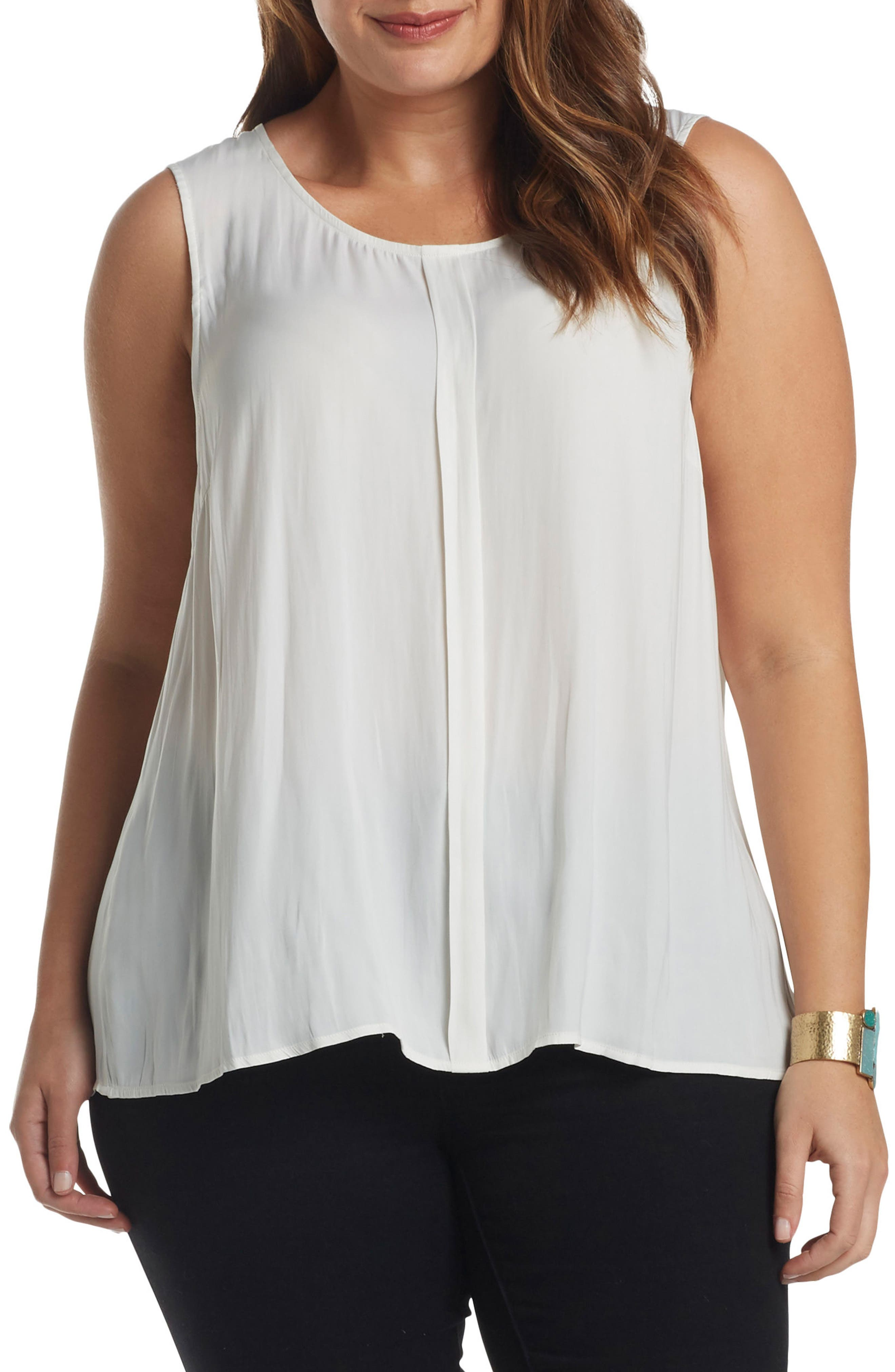 Angelle Sleeveless Top,                         Main,                         color, Gardenia