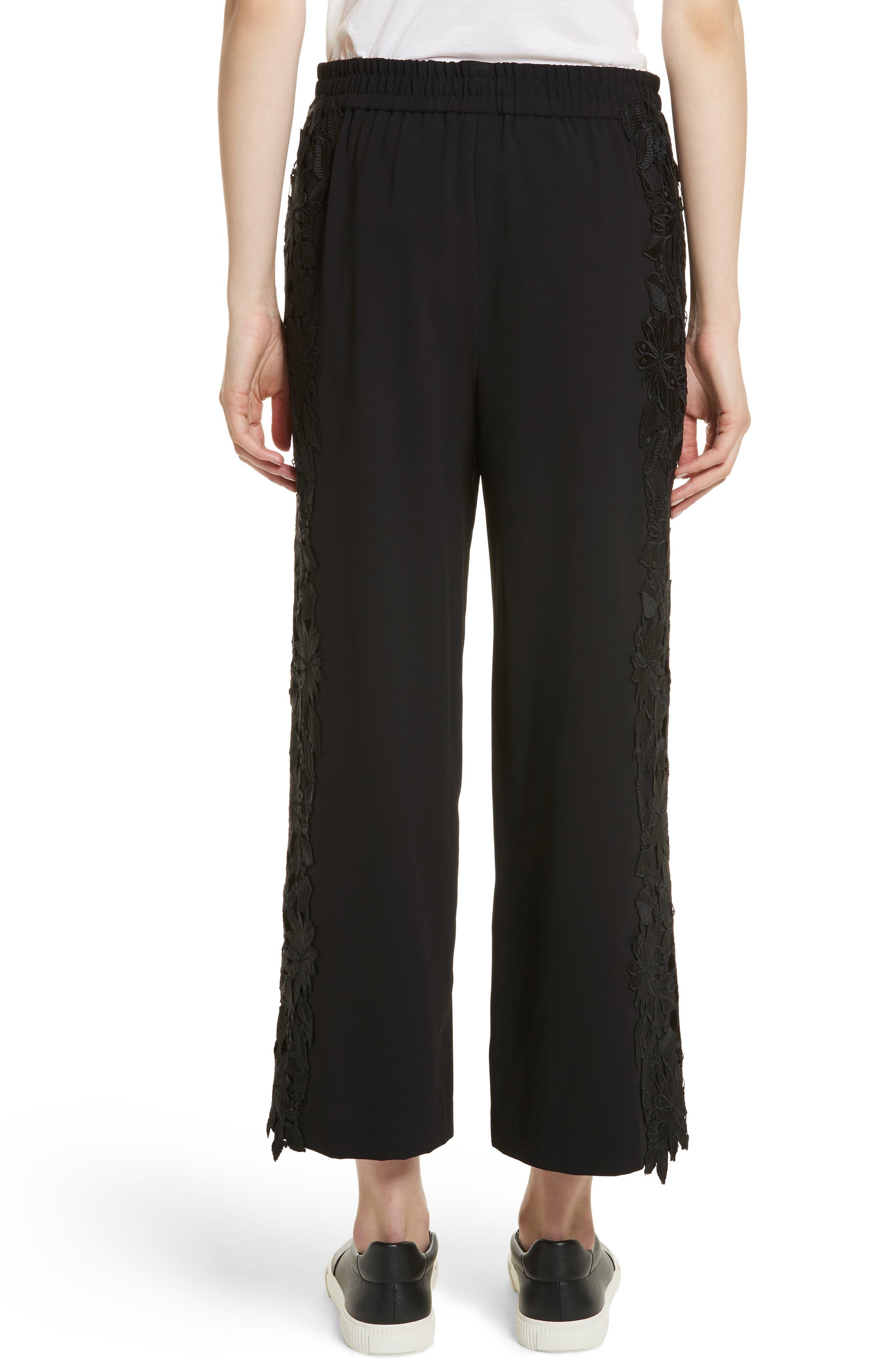 Alternate Image 2  - Alice + Olivia Benny Side Lace Crop Pants