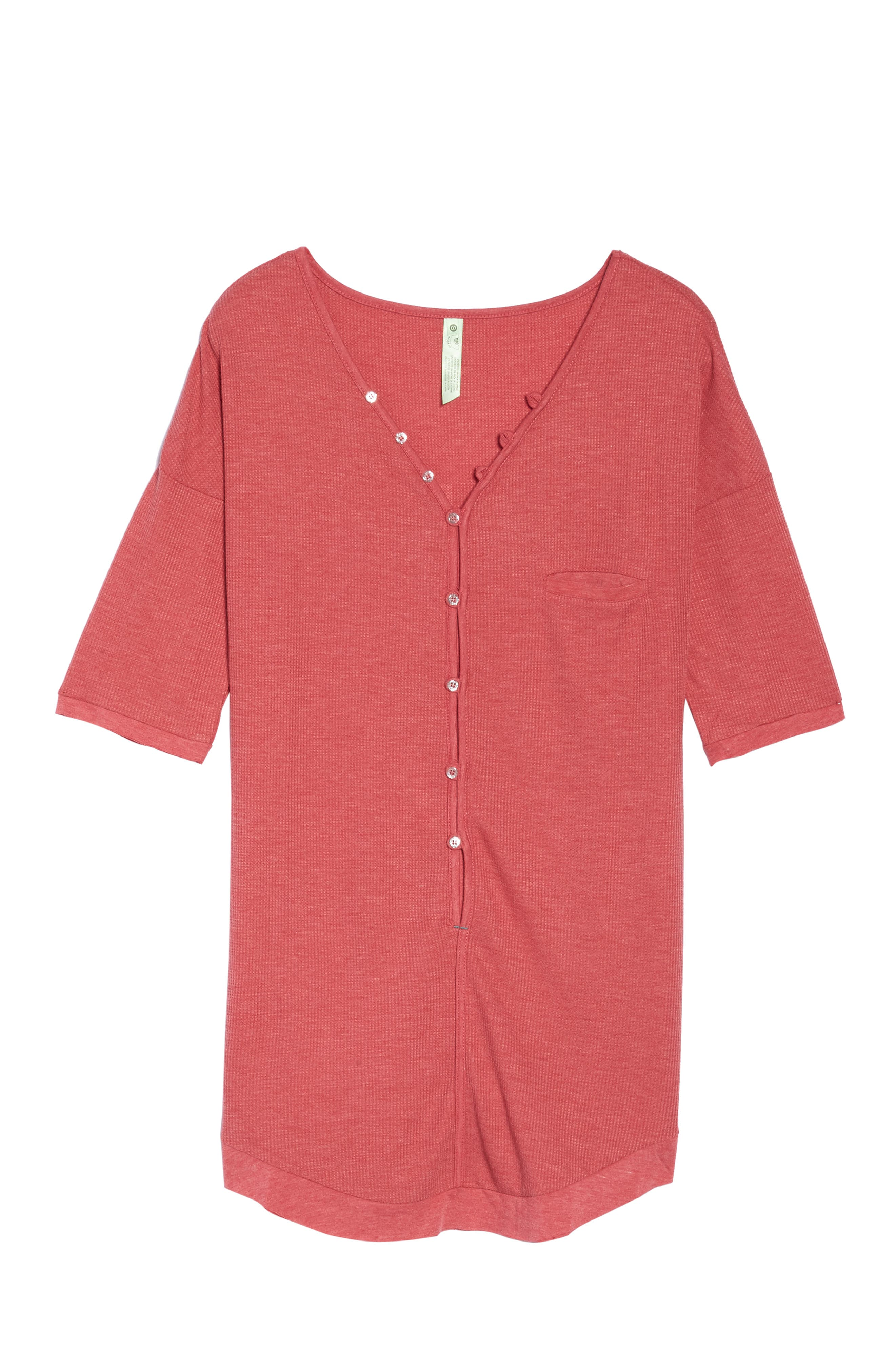 Sleep Shirt,                             Alternate thumbnail 4, color,                             Ruby