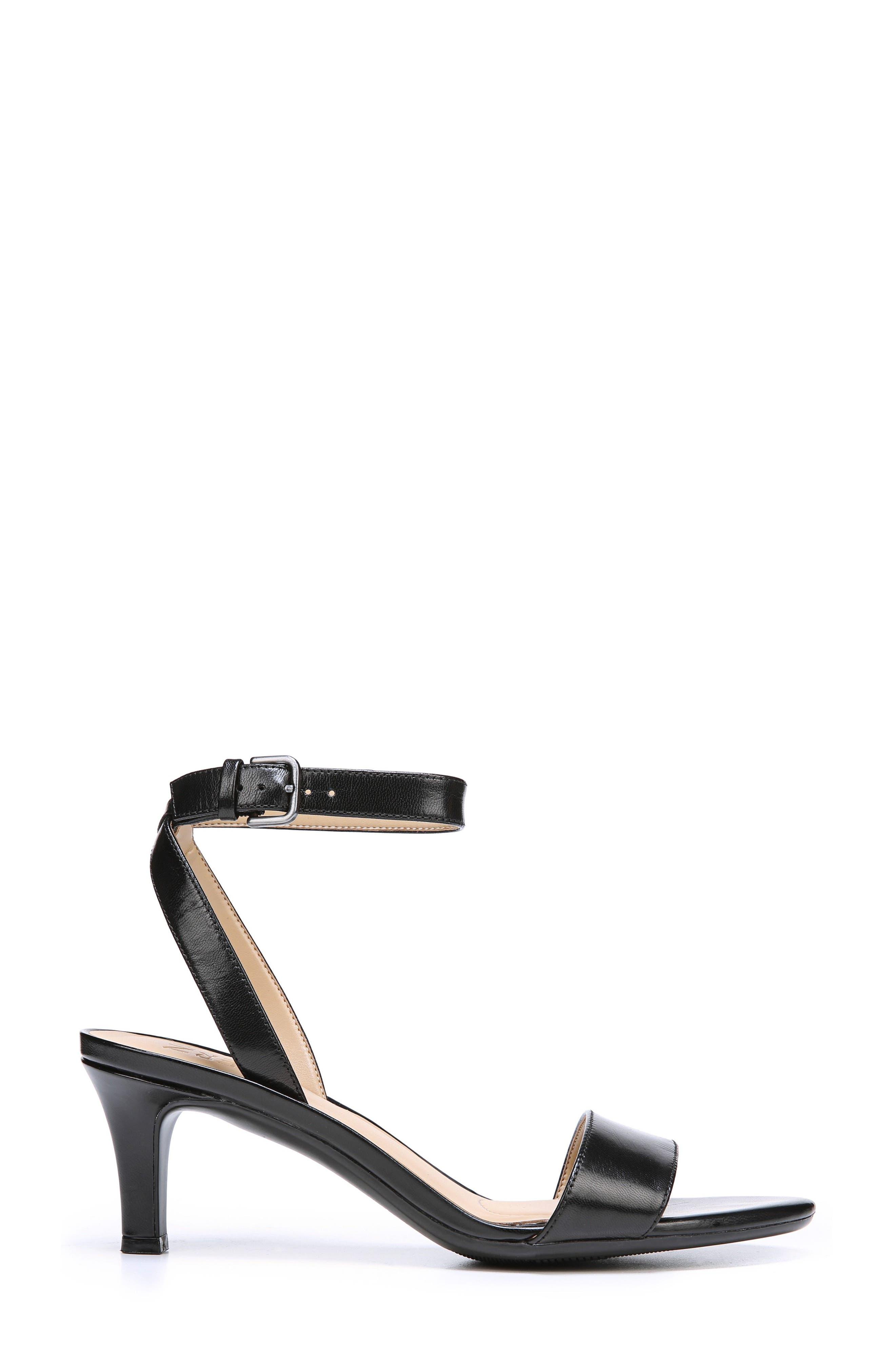 Tinda Sandal,                             Alternate thumbnail 3, color,                             Black Leather