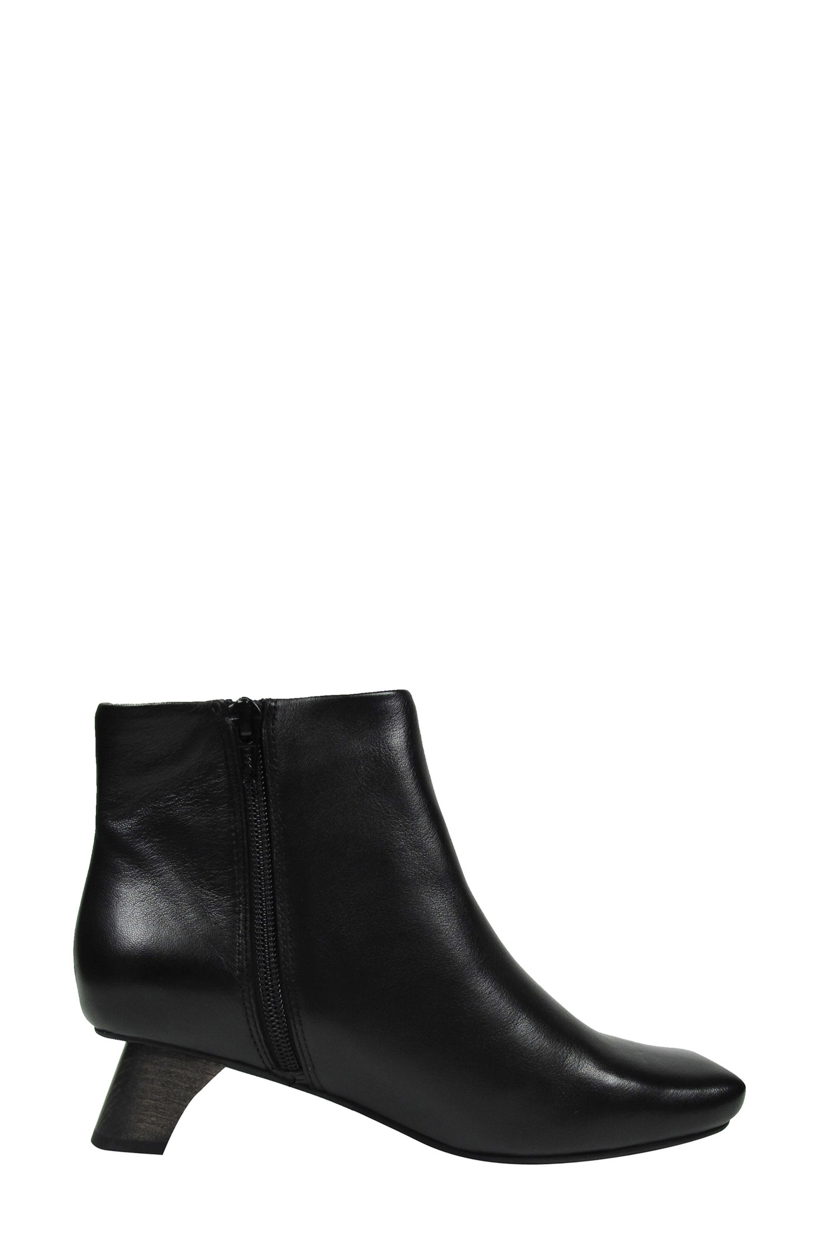 Willomina Bootie,                             Main thumbnail 1, color,                             Black Leather