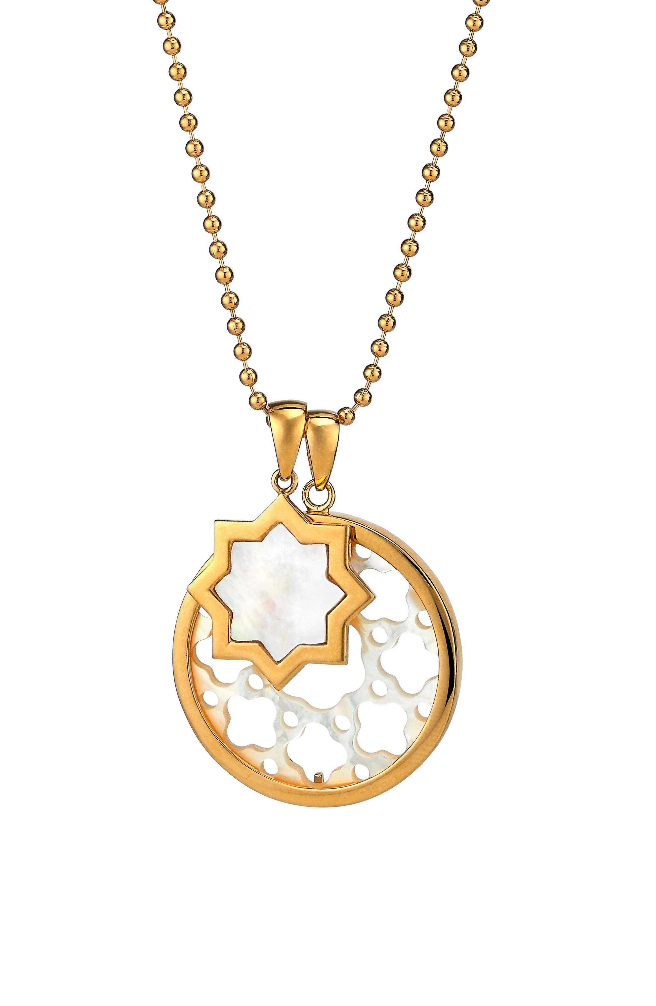 Carlotta Mother-of-Pearl Pendant Necklace,                         Main,                         color, Gold - Mother Of Pearl