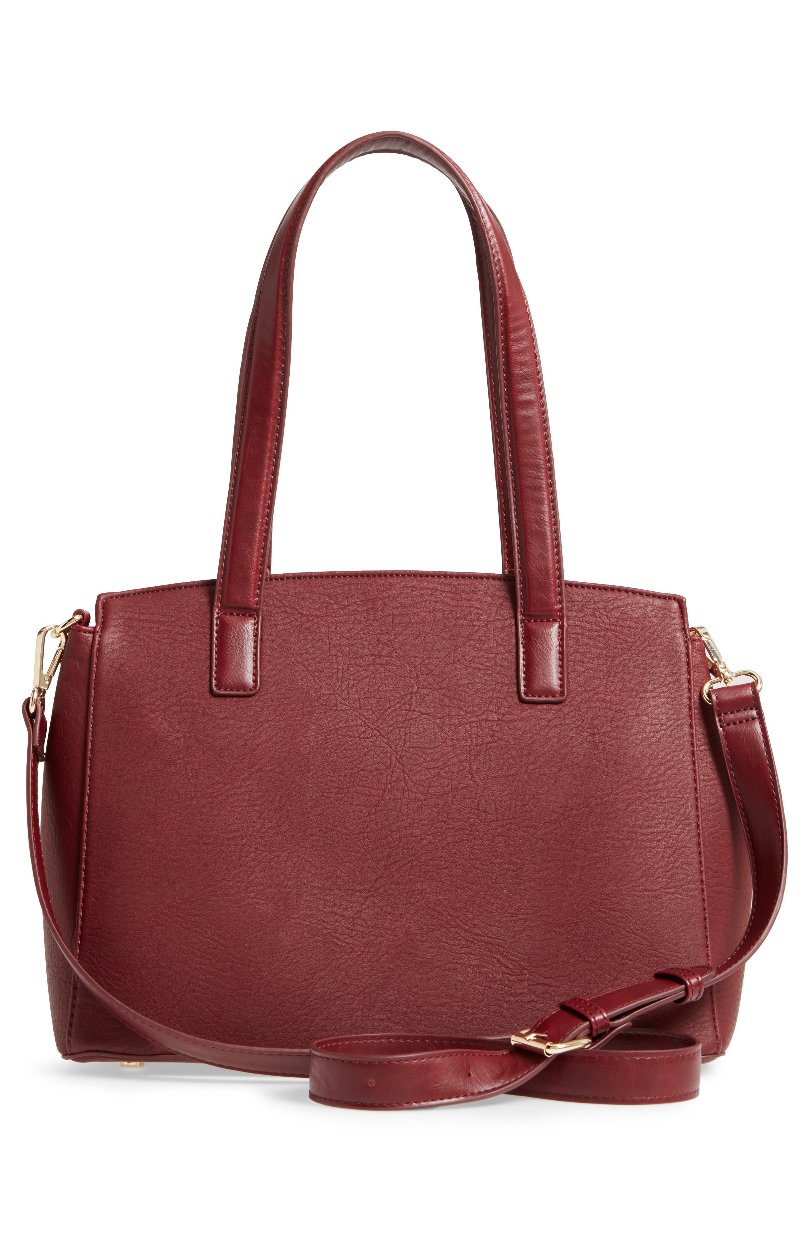 Alternate Image 3  - Sole Society Sterling Faux Leather Satchel