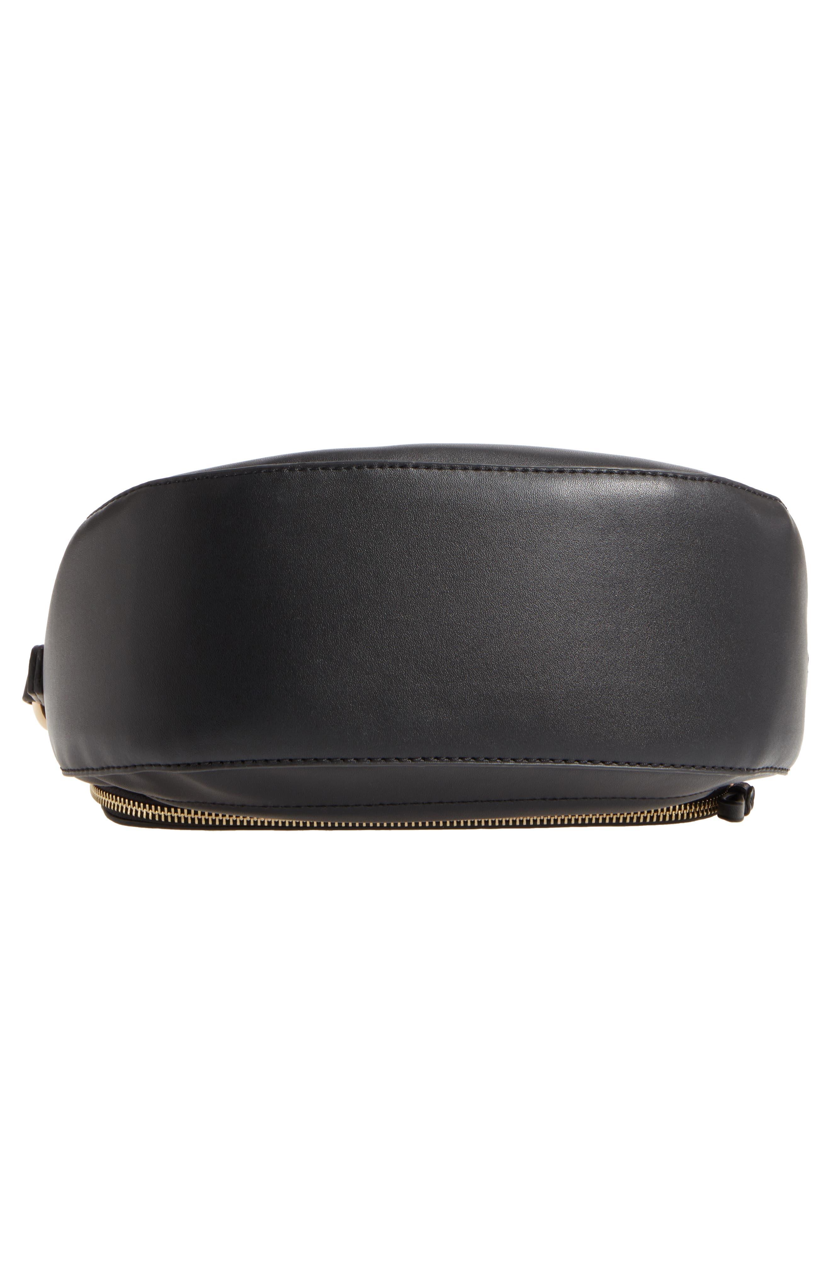 Adden Faux Leather Crossbody Bag,                             Alternate thumbnail 6, color,                             Black