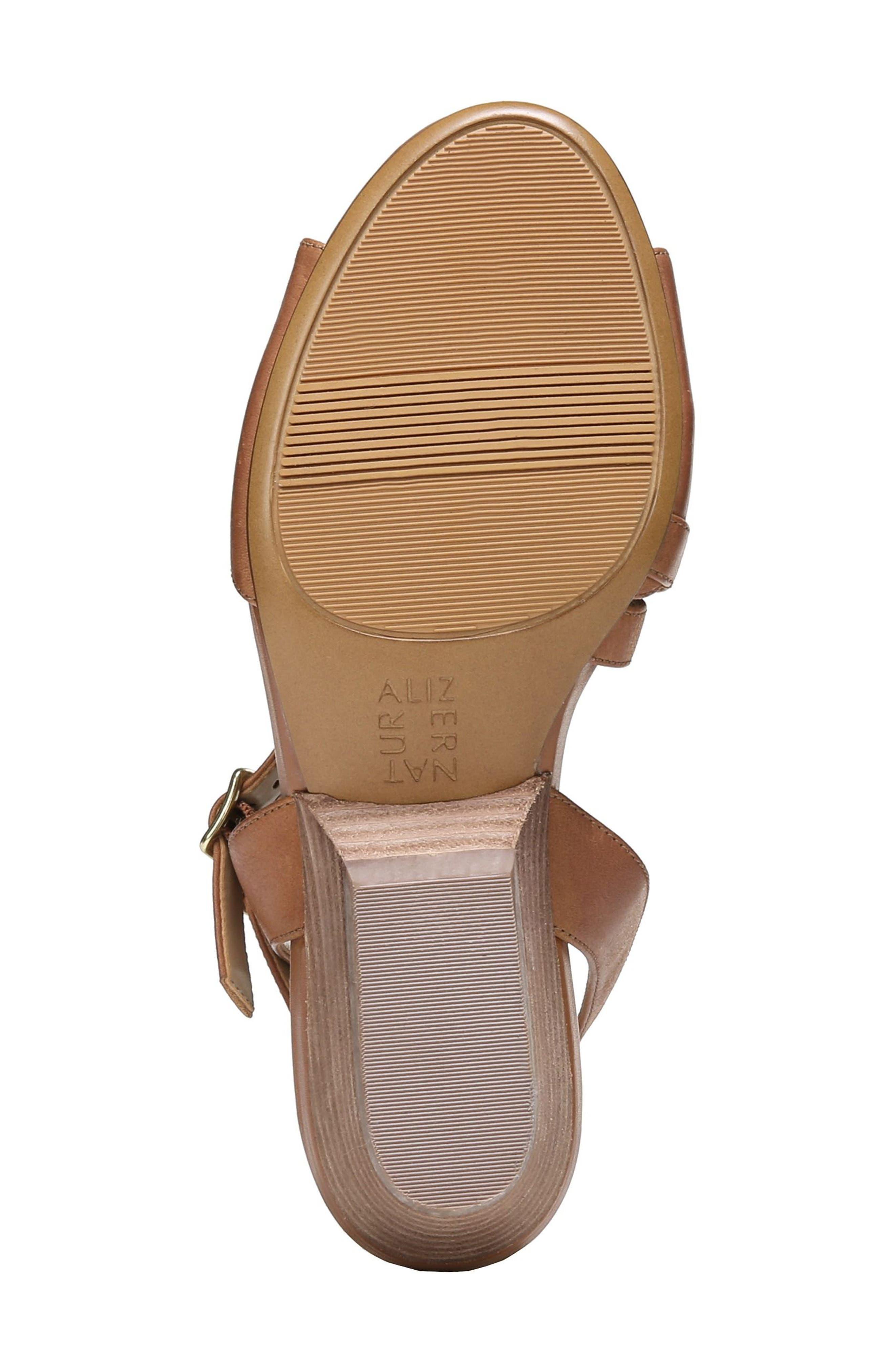 Gigi Sandal,                             Alternate thumbnail 6, color,                             Light Maple Leather