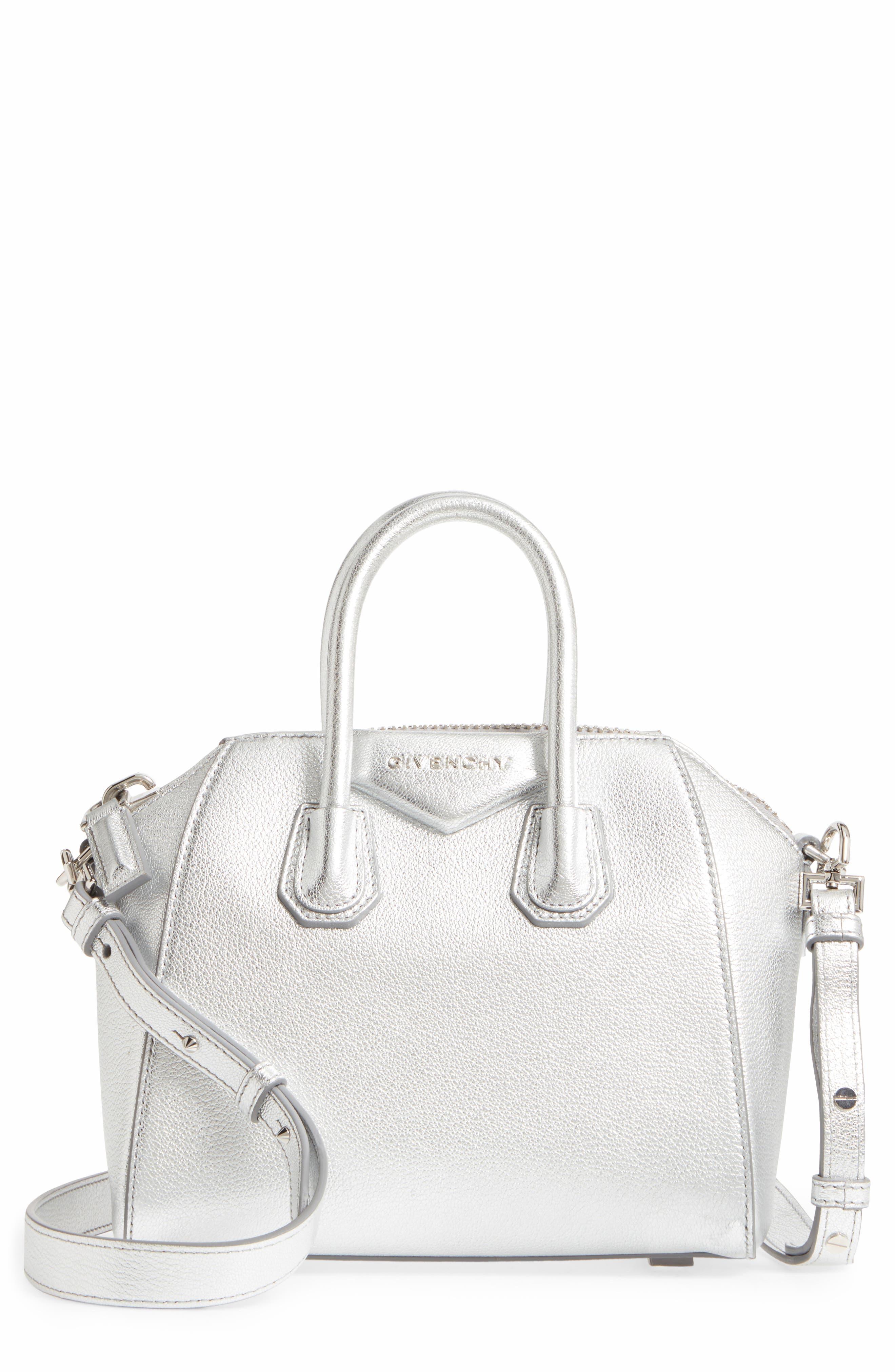 Main Image - Givenchy Mini Antigona Metallic Leather Satchel