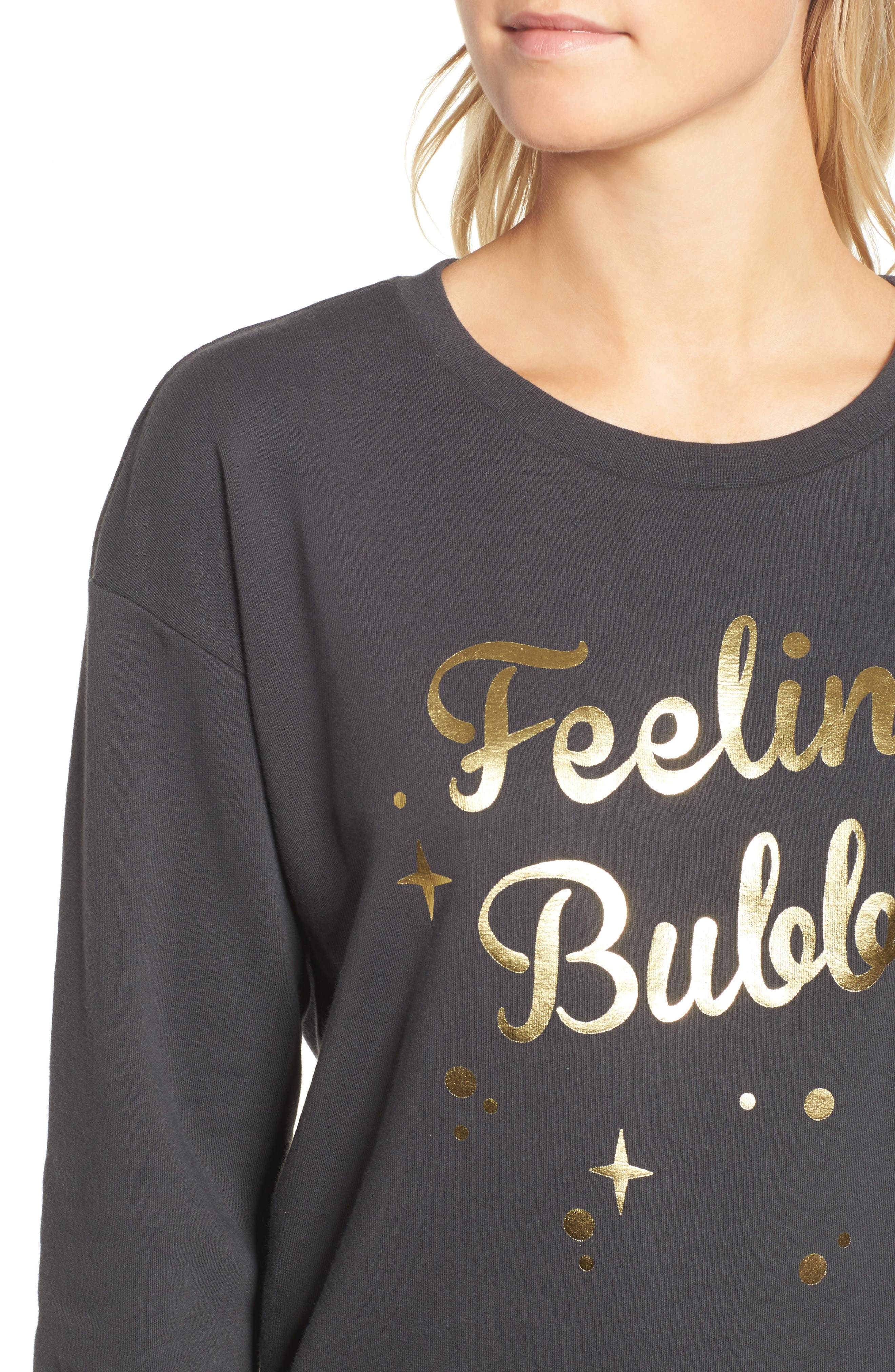 Feeling Bubbly Sweatshirt,                             Alternate thumbnail 4, color,                             Black