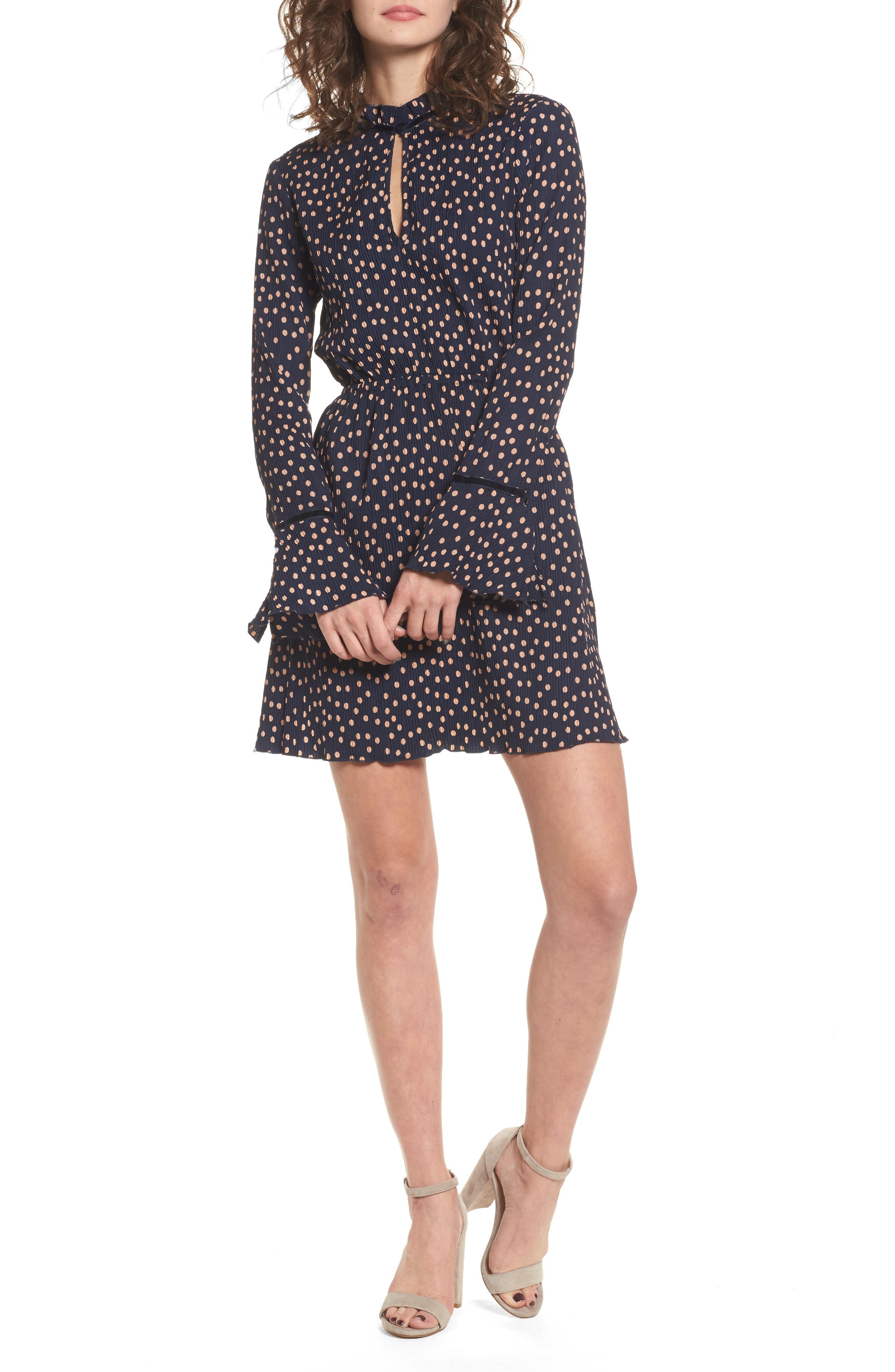 Atlanta Dress,                             Main thumbnail 1, color,                             Navy W Peach