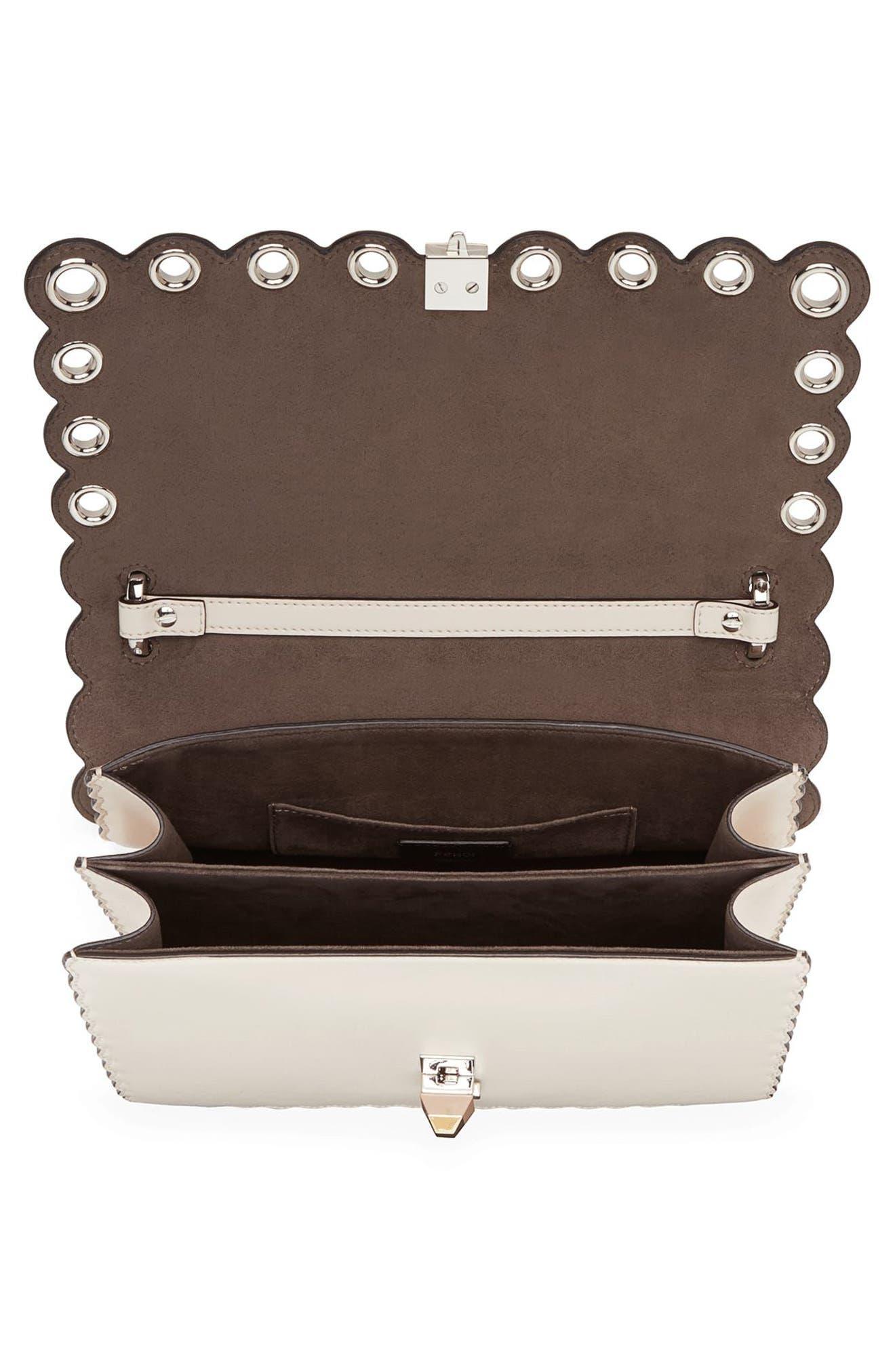 Small Kan I Genuine Python & Calfskin Shoulder Bag,                             Alternate thumbnail 3, color,                             Camelia/ Makeup/ Python
