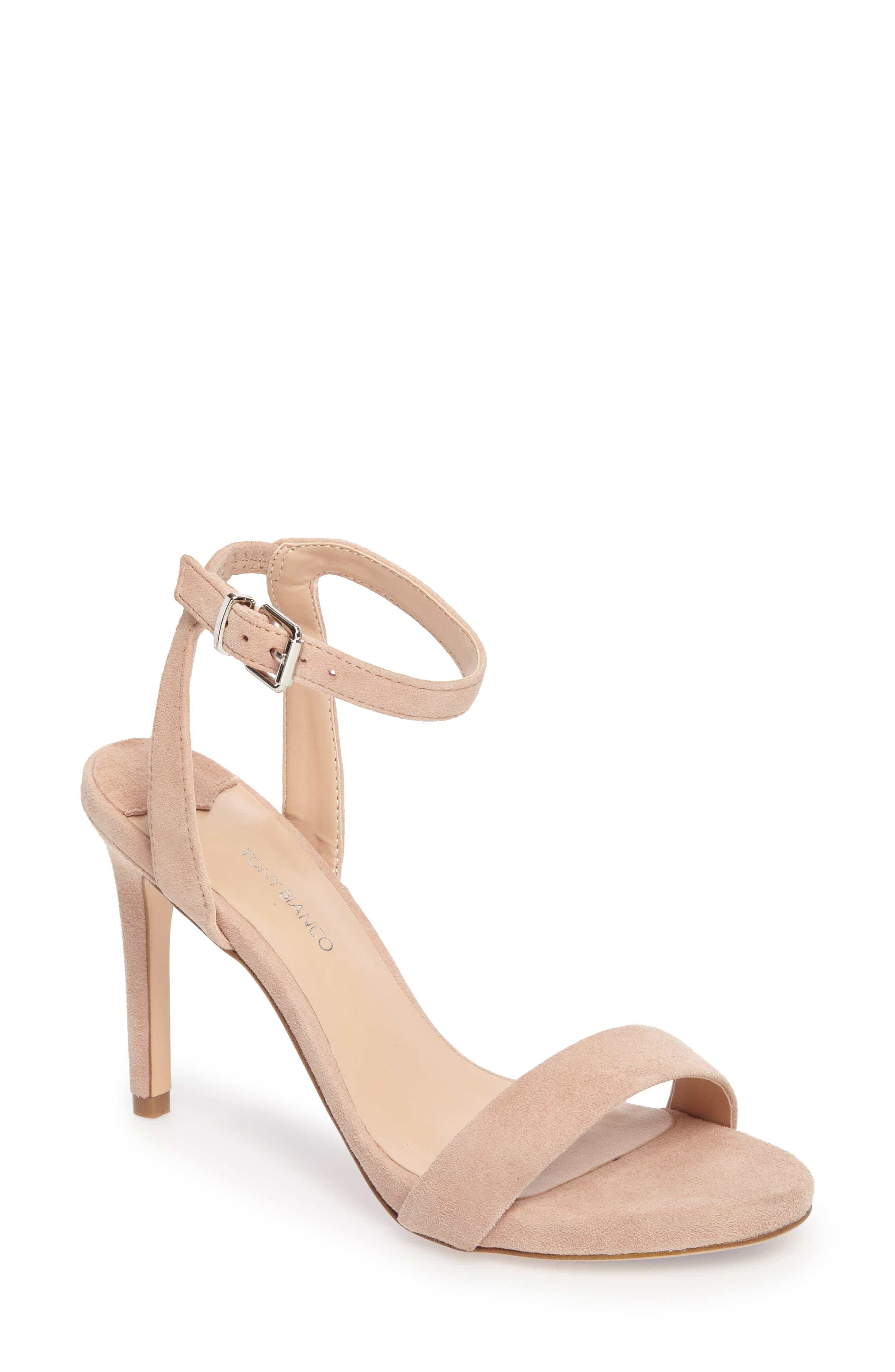 Char Ankle Cuff Sandal,                             Main thumbnail 1, color,                             Blush Suede