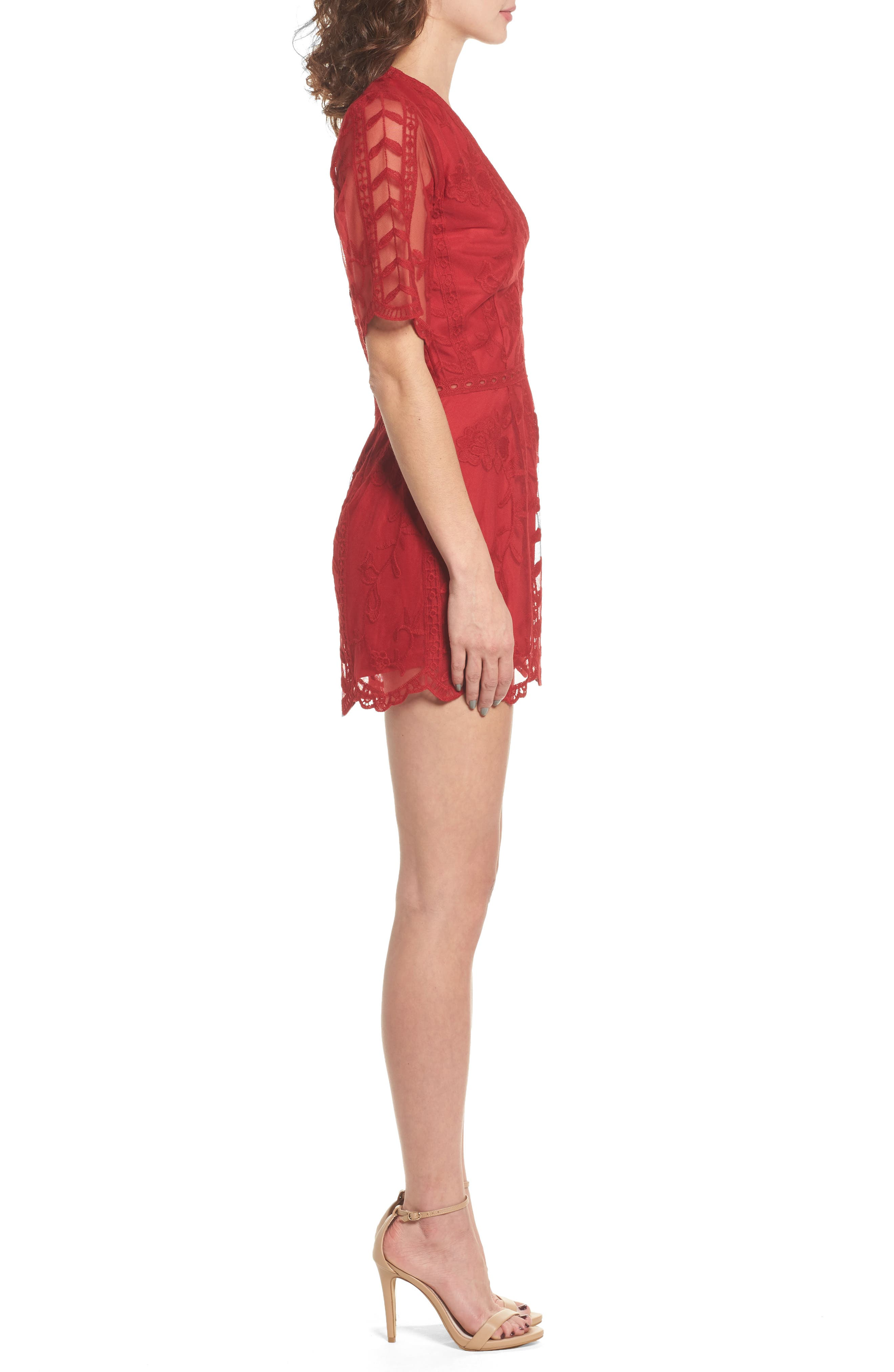 Alternate Image 3  - Socialite Plunging Lace Romper