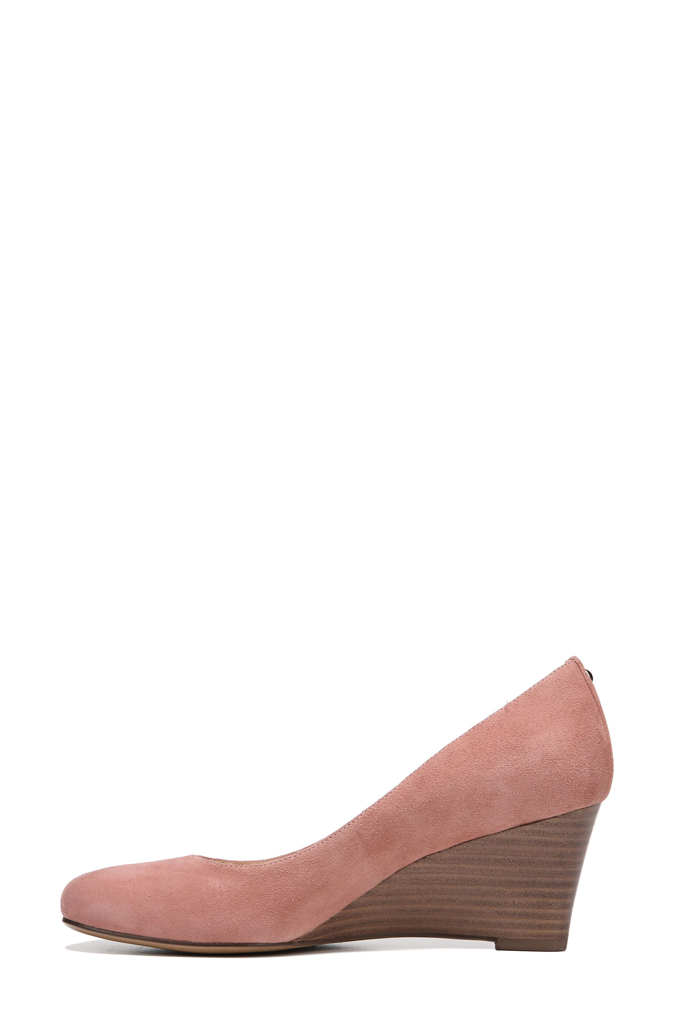 Emily Wedge Pump,                             Alternate thumbnail 4, color,                             Peony Pink Suede