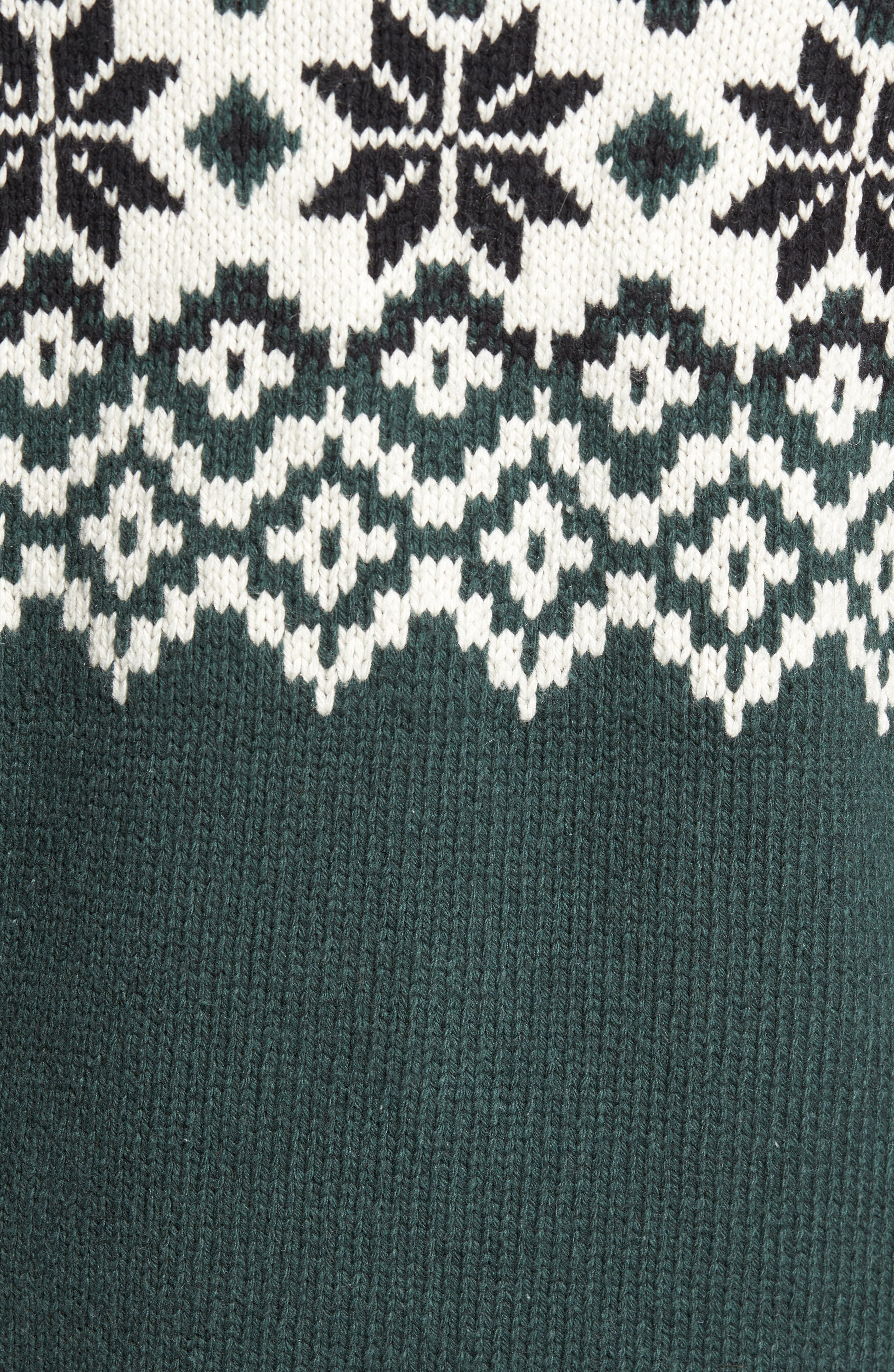 Fair Isle Ski Sweater,                             Alternate thumbnail 5, color,                             Clay/ Darkest Spruce/ Black