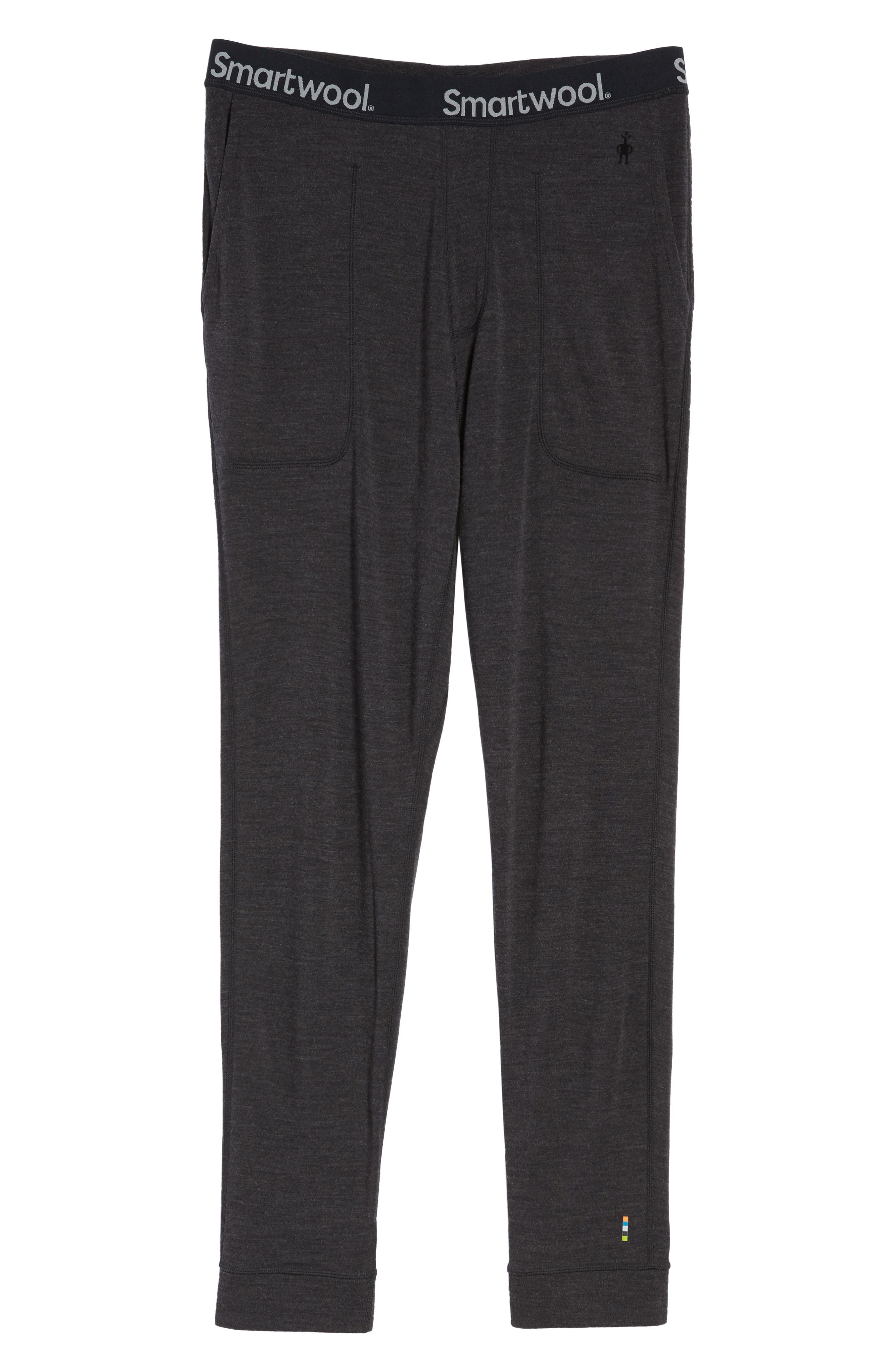 250 Merino Wool Jogger Pants,                             Alternate thumbnail 6, color,                             Charcoal