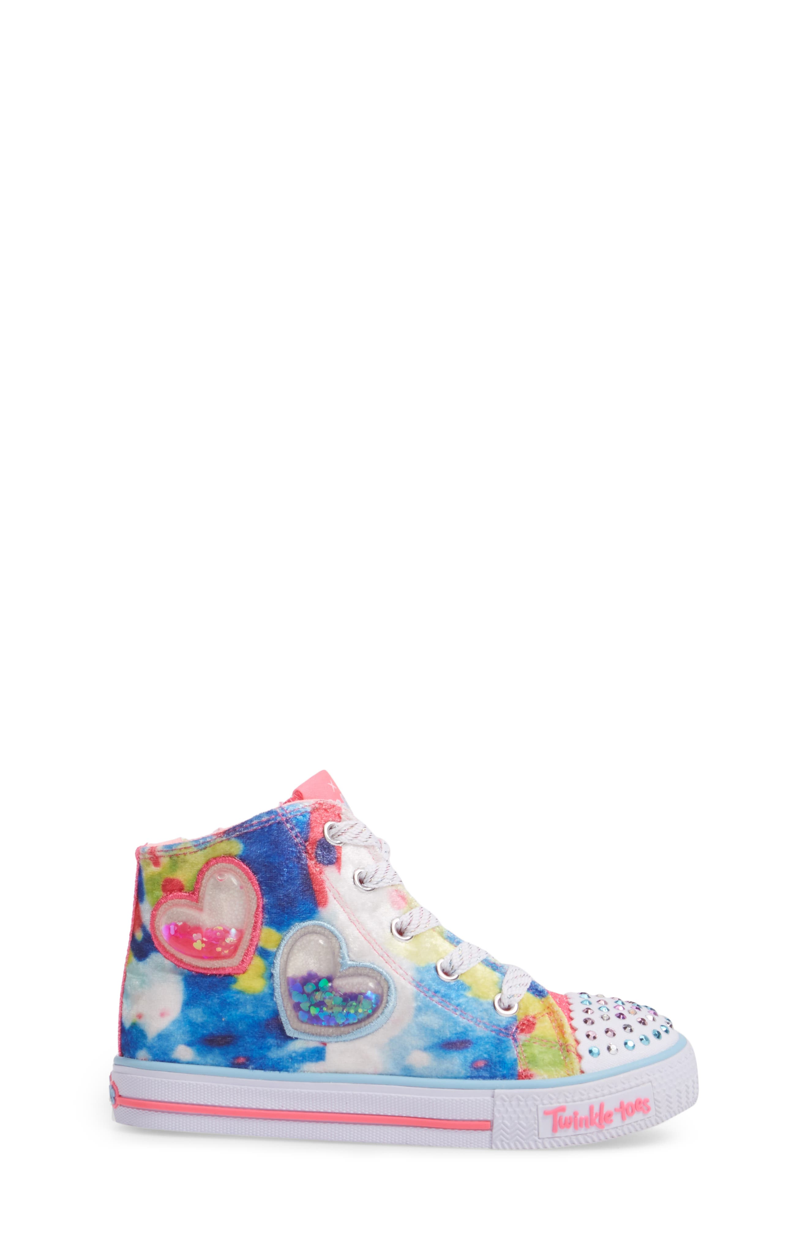 Alternate Image 3  - SKECHERS Twinkle Toes Shuffles Light-Up High Top Sneaker (Walker & Toddler)