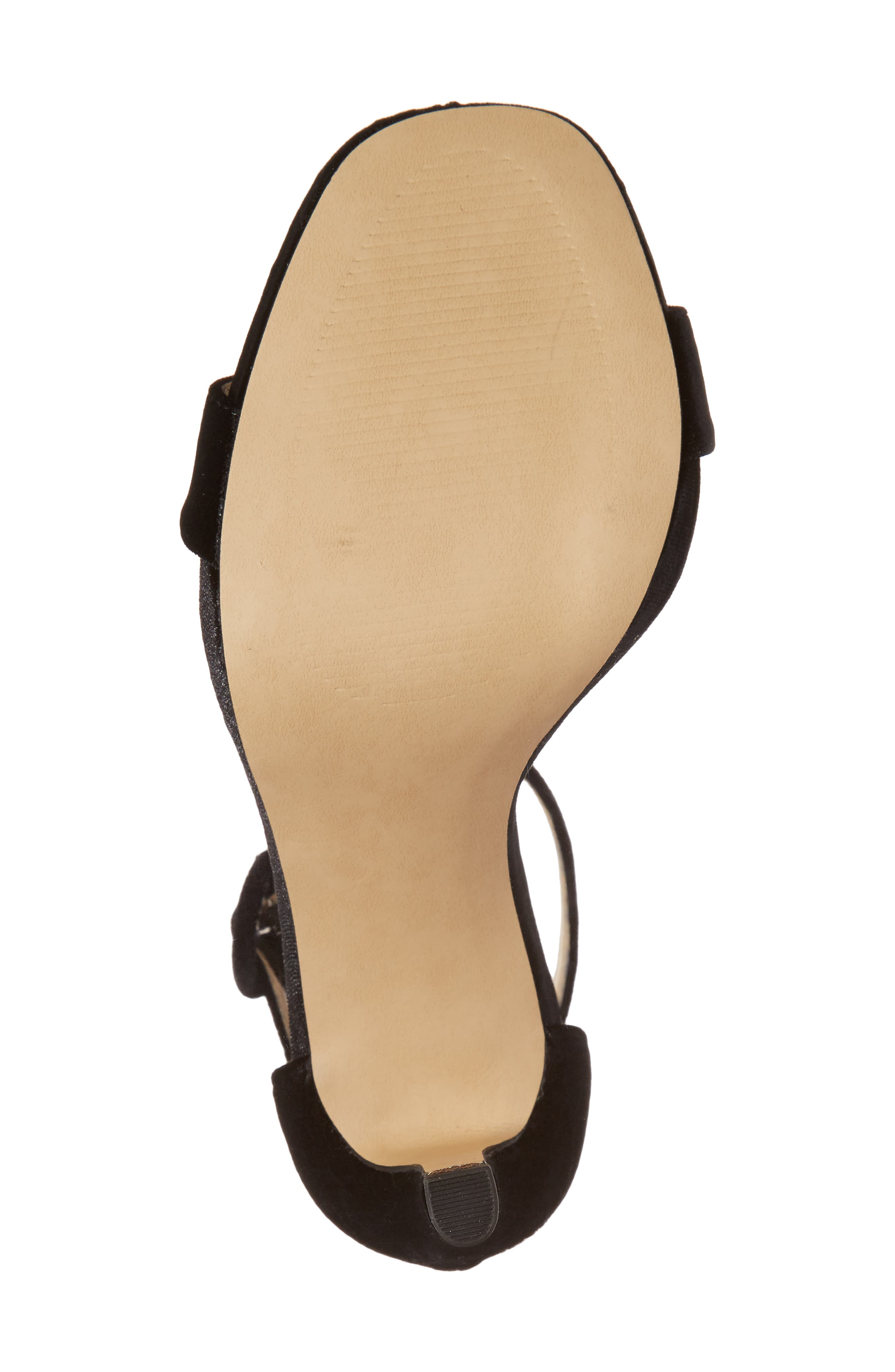 Emelia Ankle Strap Sandal,                             Alternate thumbnail 6, color,                             Black