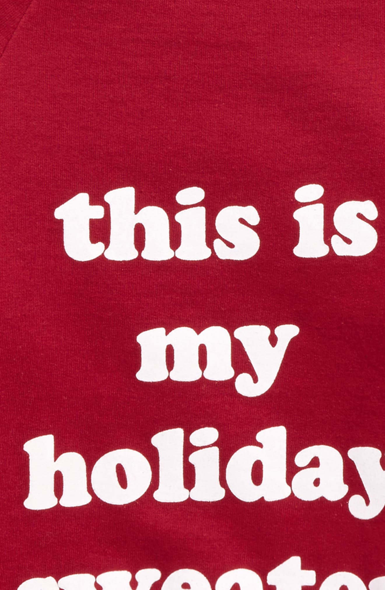 This Is My Holiday Sweater Graphic Sweatshirt,                             Alternate thumbnail 2, color,                             Burgundy