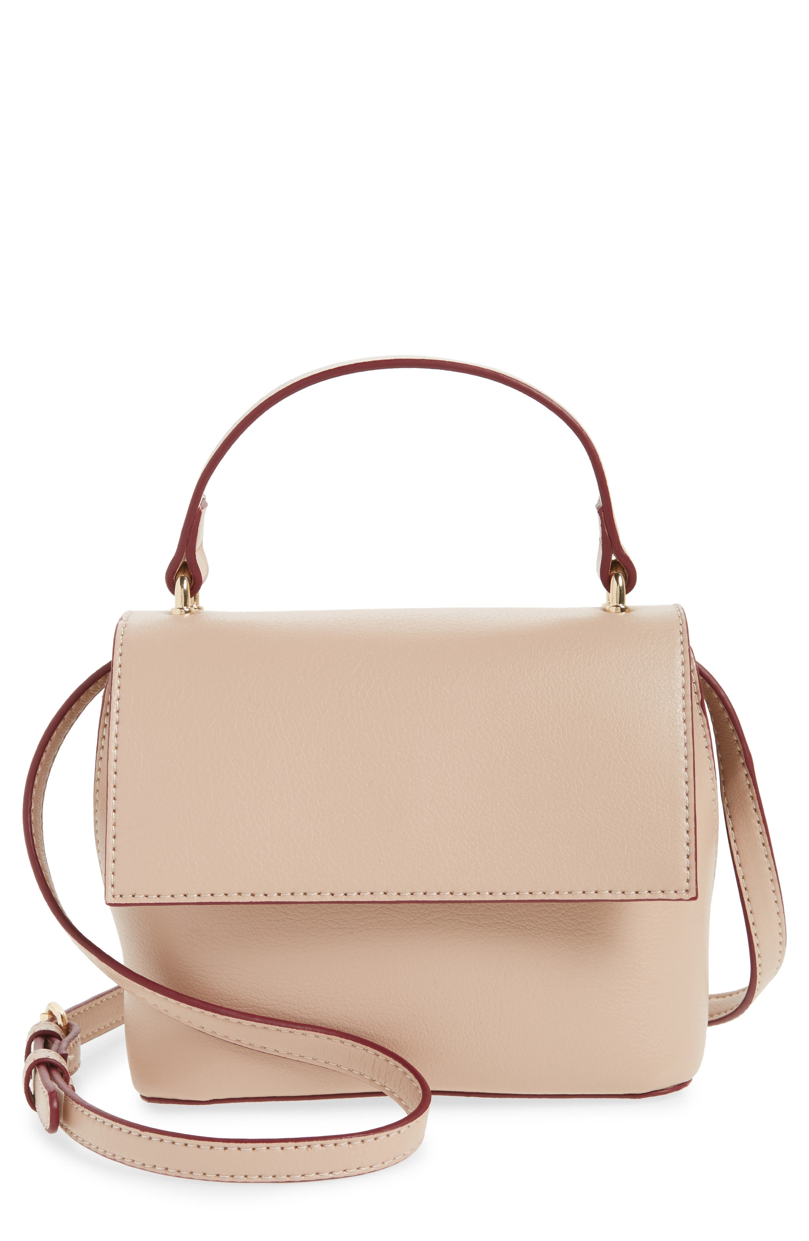 Mini Chino Crossbody Bag,                             Main thumbnail 1, color,                             Blush