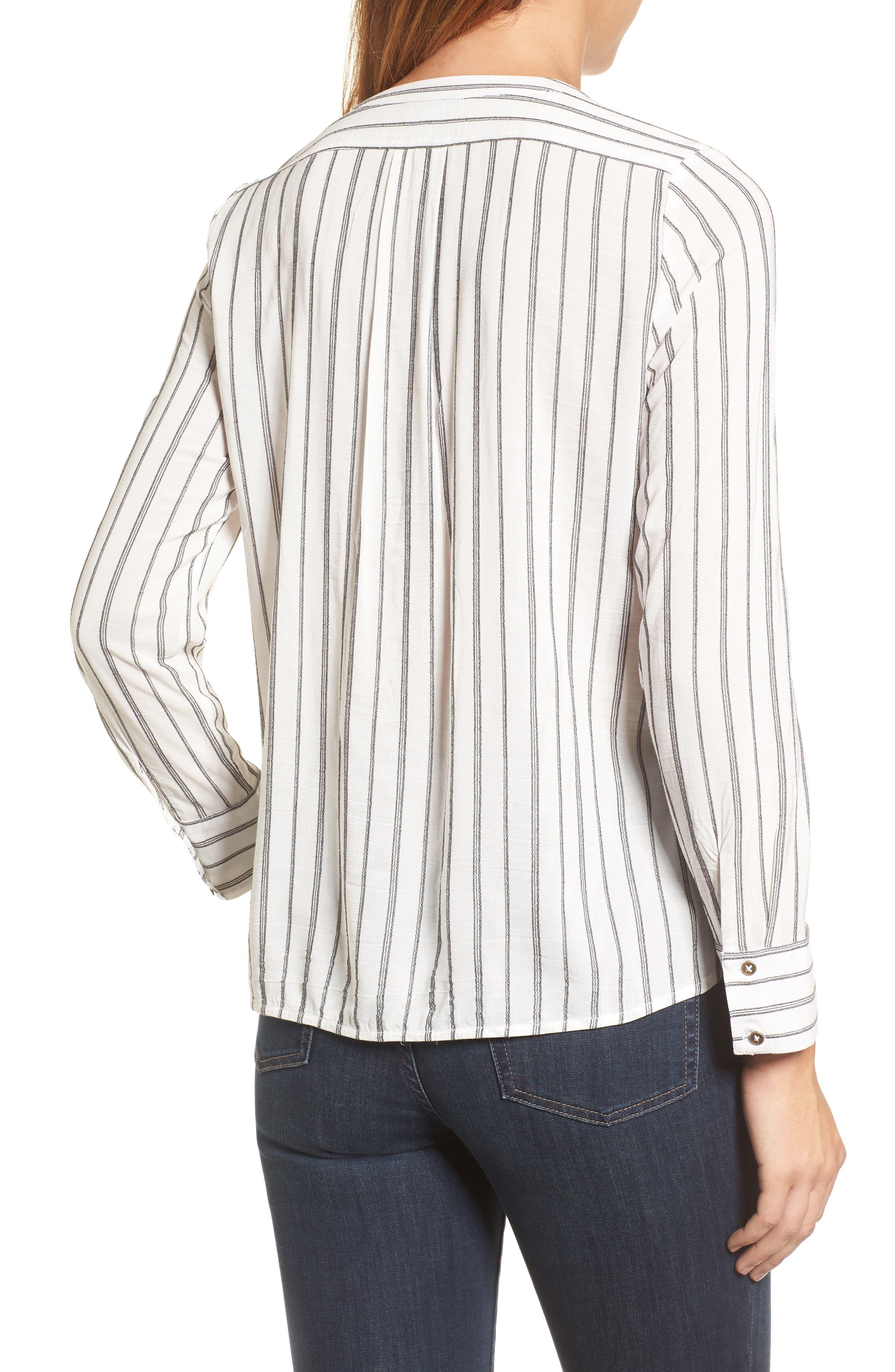 Alternate Image 2  - Lucky Brand Woven Stripe Top
