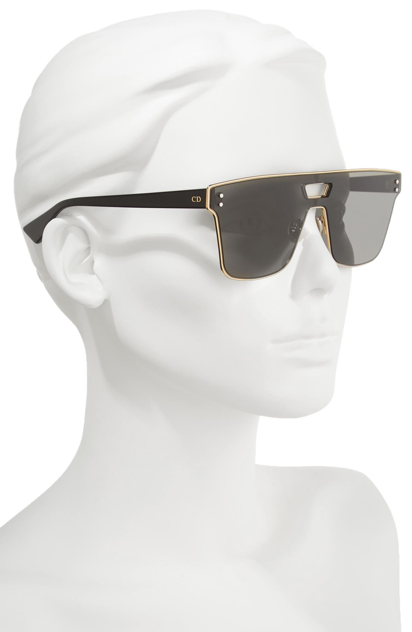 Shield Sunglasses,                             Alternate thumbnail 2, color,                             Gold