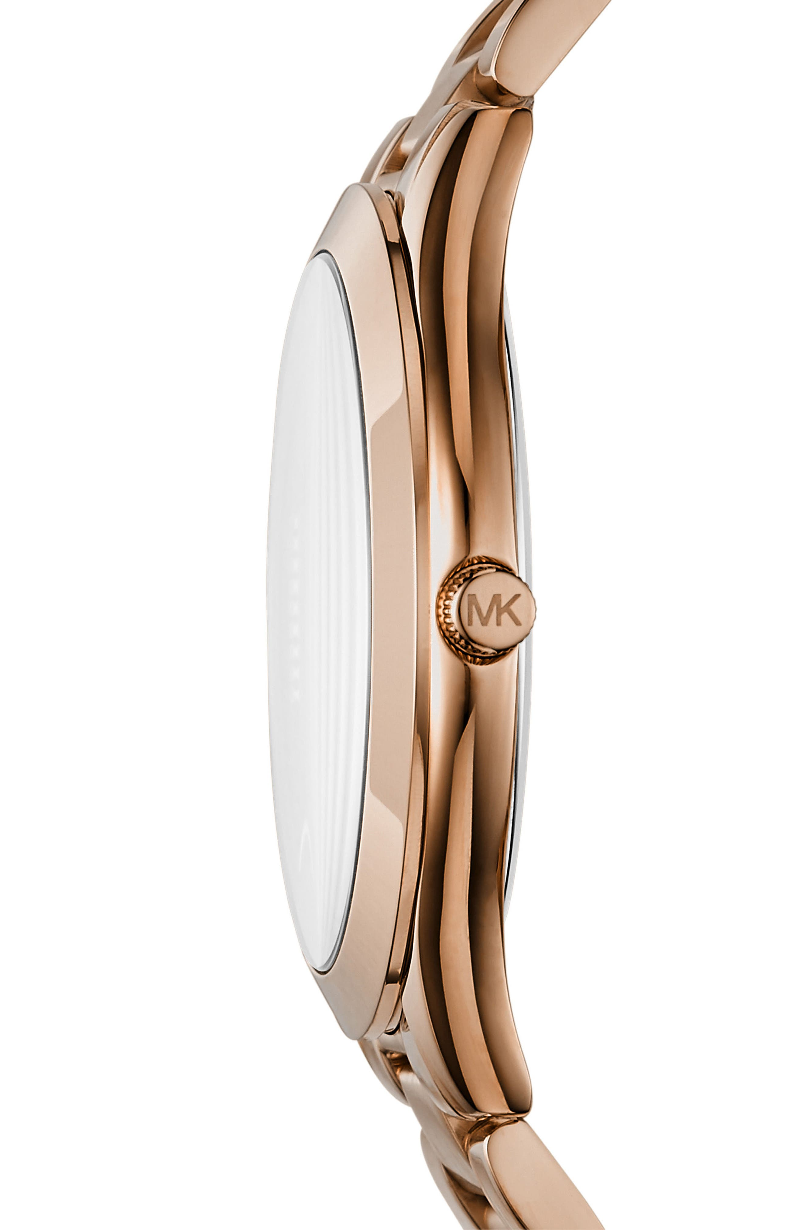 Slim Runway Love Bracelet Watch, 42mm,                             Alternate thumbnail 2, color,                             Rose Gold/ Silver/ Rose Gold