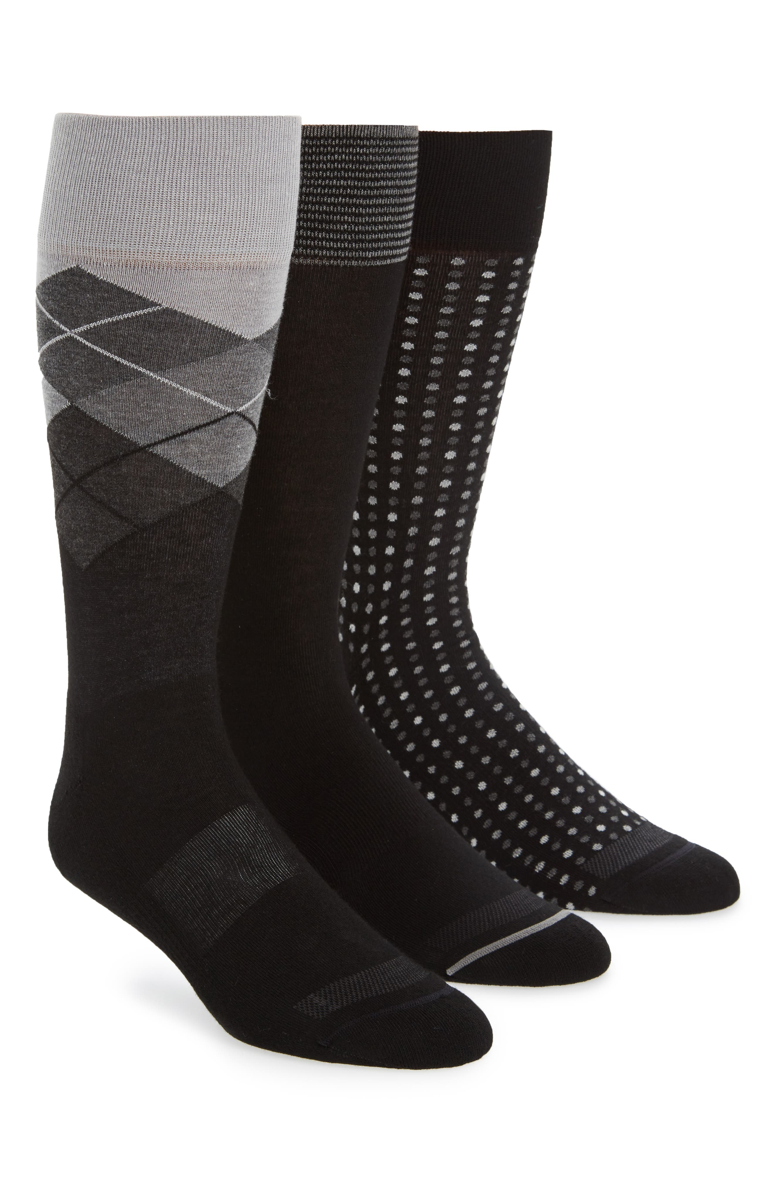 Nordstrom Men's Shop 3-Pack Assorted Dress Socks
