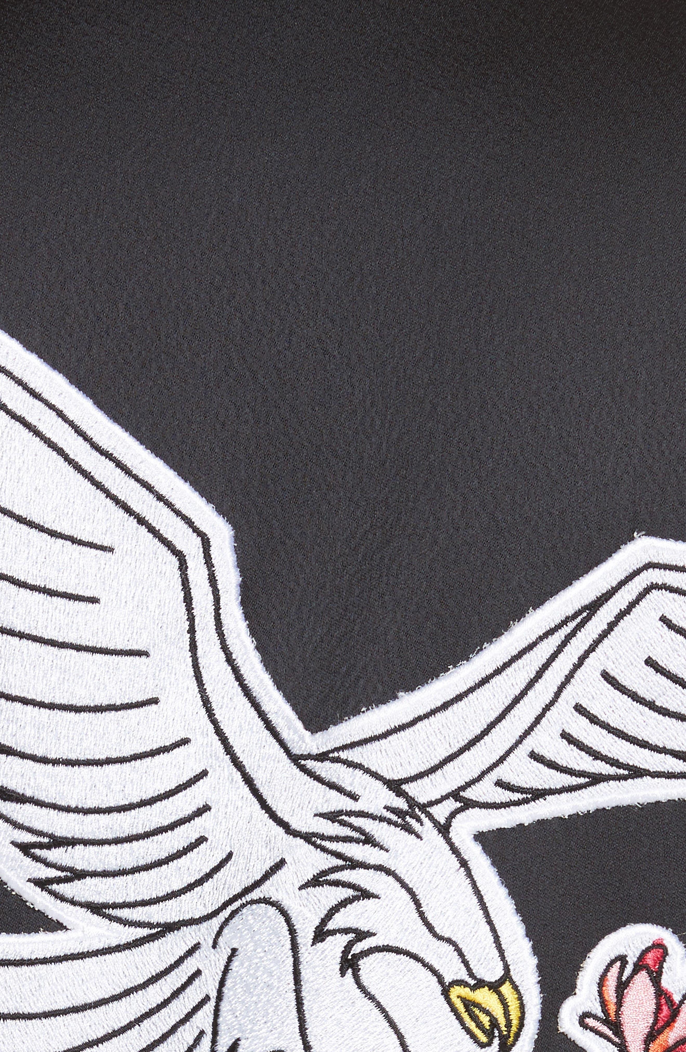 Varsity Bomber Jacket,                             Alternate thumbnail 5, color,                             Black/ White