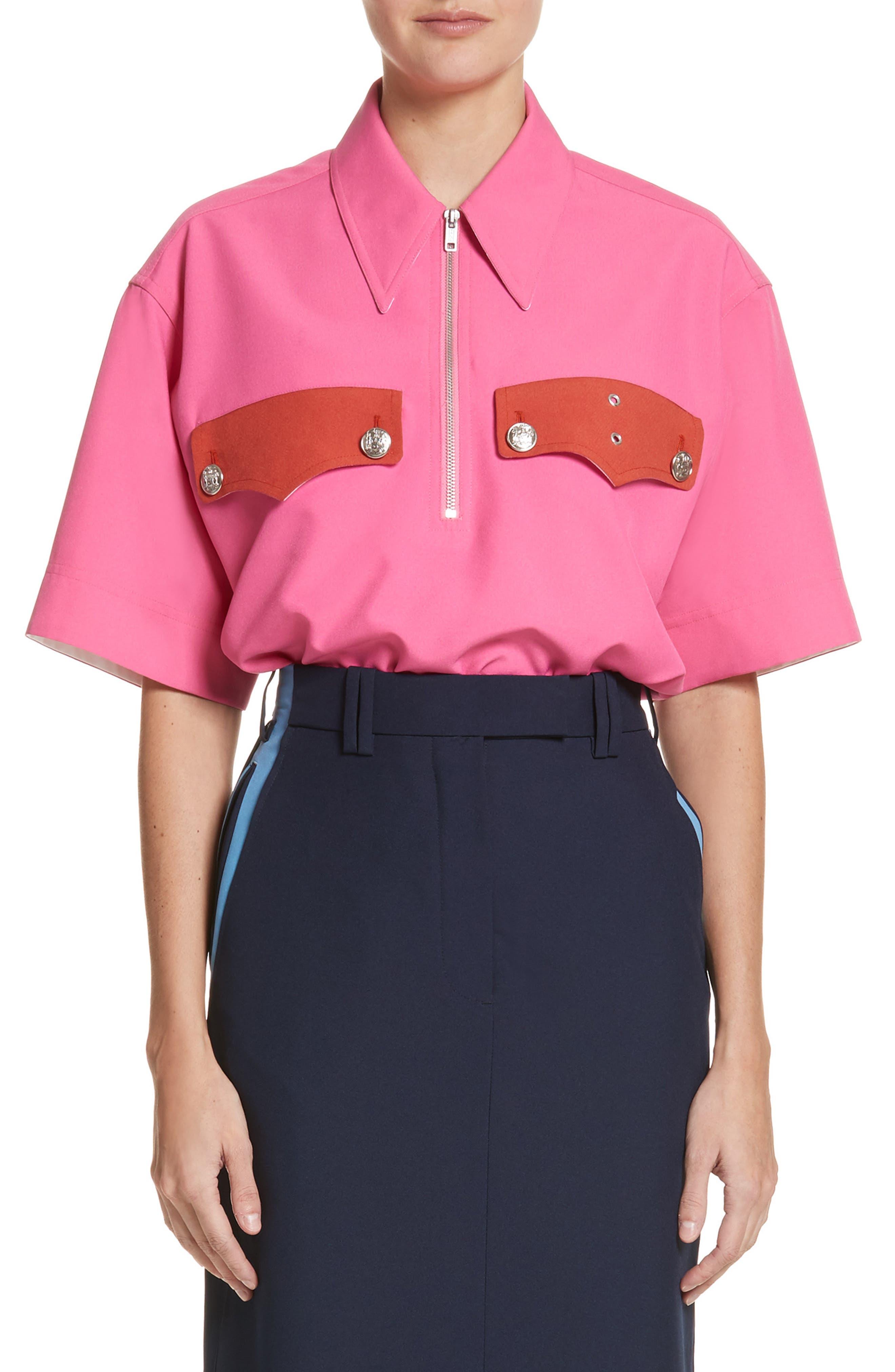 Policeman Shirt,                         Main,                         color, Begonia