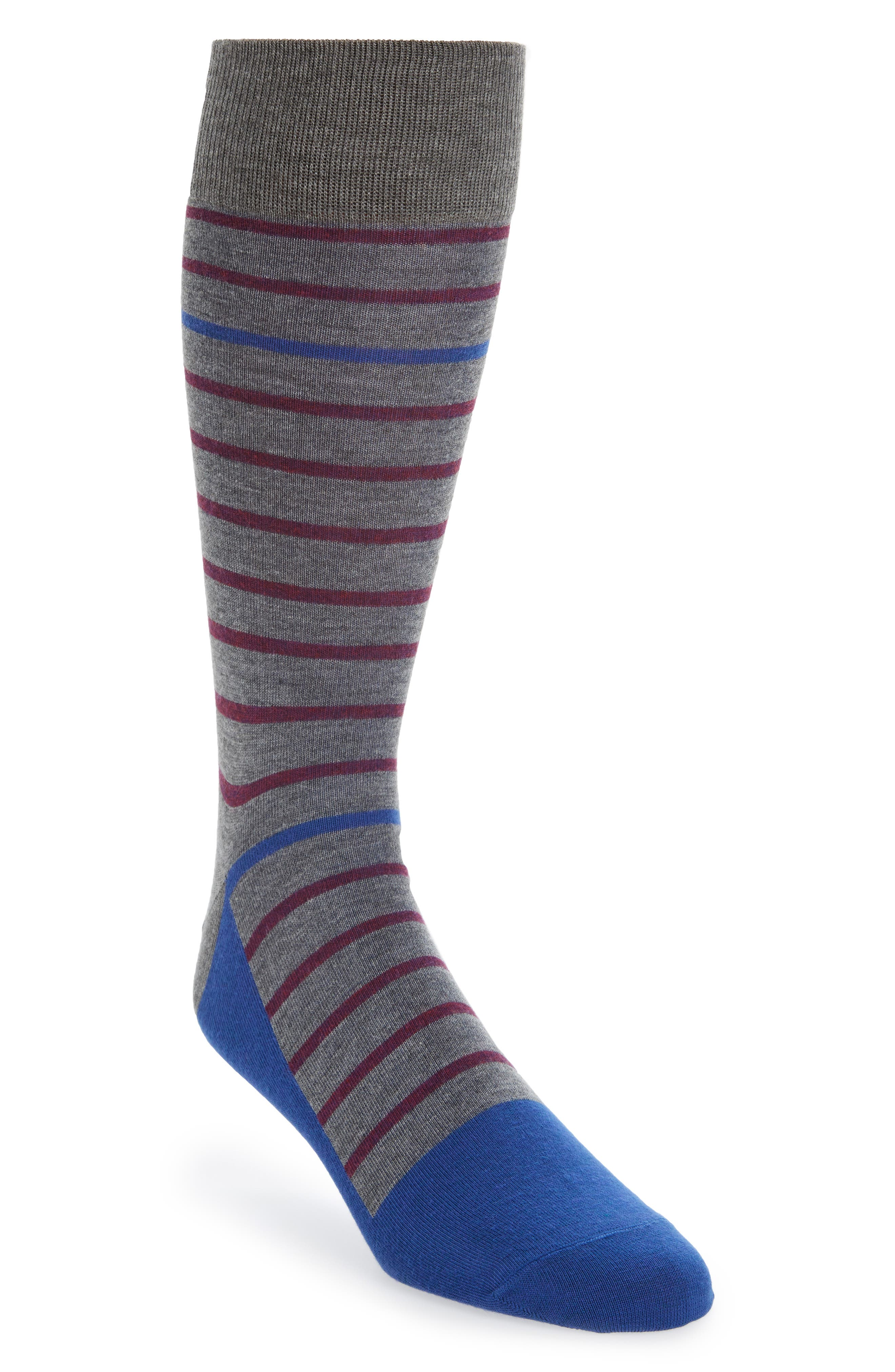 Stripe Socks,                         Main,                         color, Blue Surf