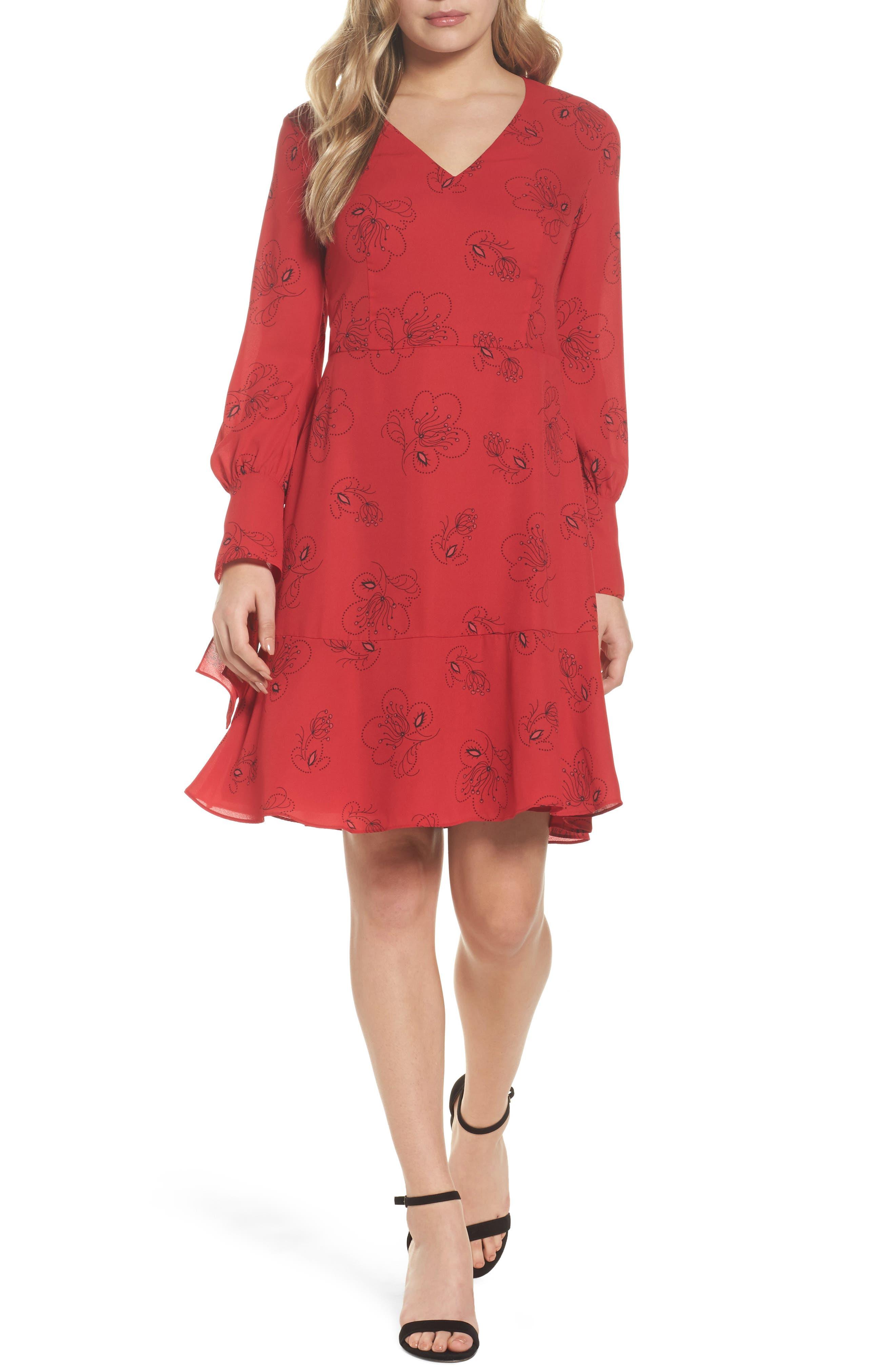 Lizzie Shift Dress,                             Main thumbnail 1, color,                             Pomegranate Multi