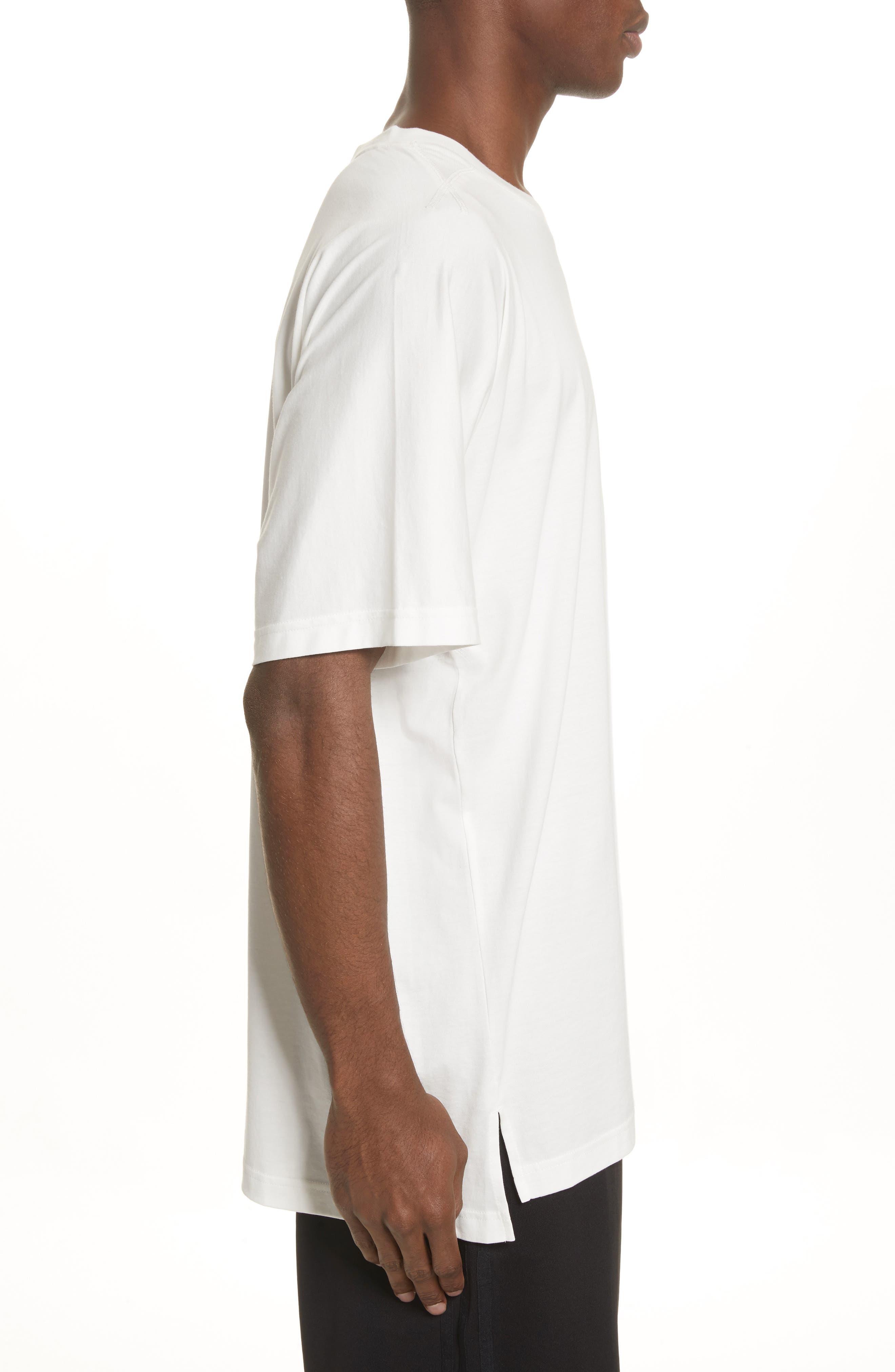 Back Logo Print Oversize T-Shirt,                             Alternate thumbnail 3, color,                             White