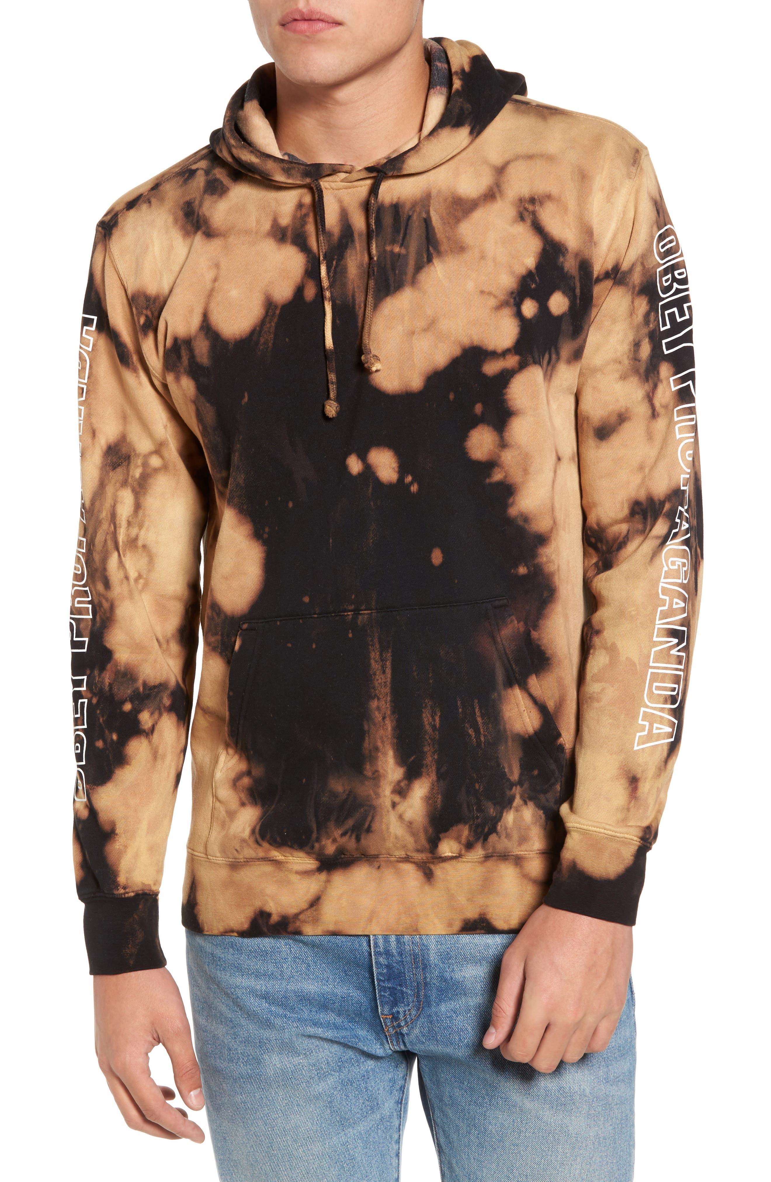 Alternate Image 1 Selected - Obey Rough Draft Tie Dye Fleece Hoodie