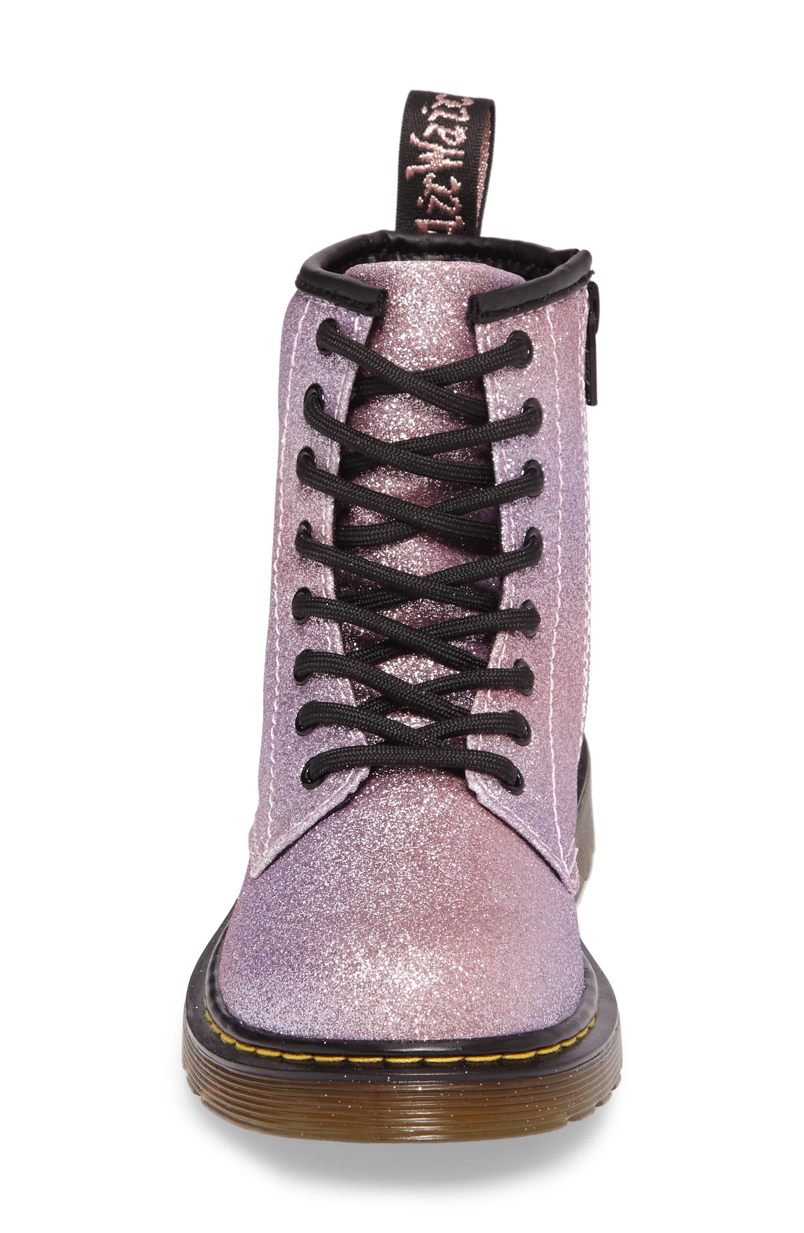 Alternate Image 4  - Dr. Martens Delaney Glitter Boot (Toddler, Little Kid & Big Kid)