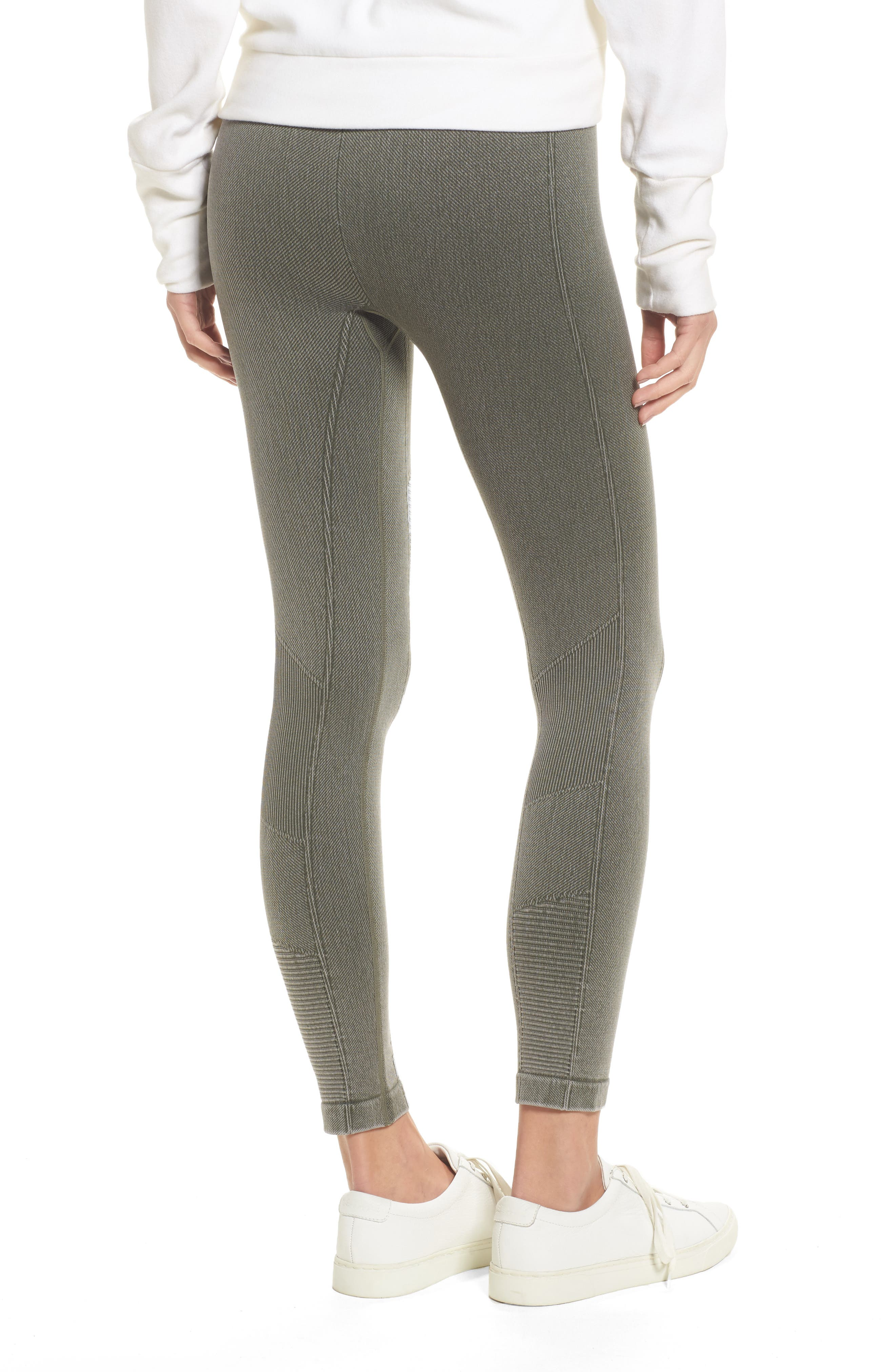 Washed Moto Seamless Skimmer Leggings,                             Alternate thumbnail 2, color,                             Fatigue Green